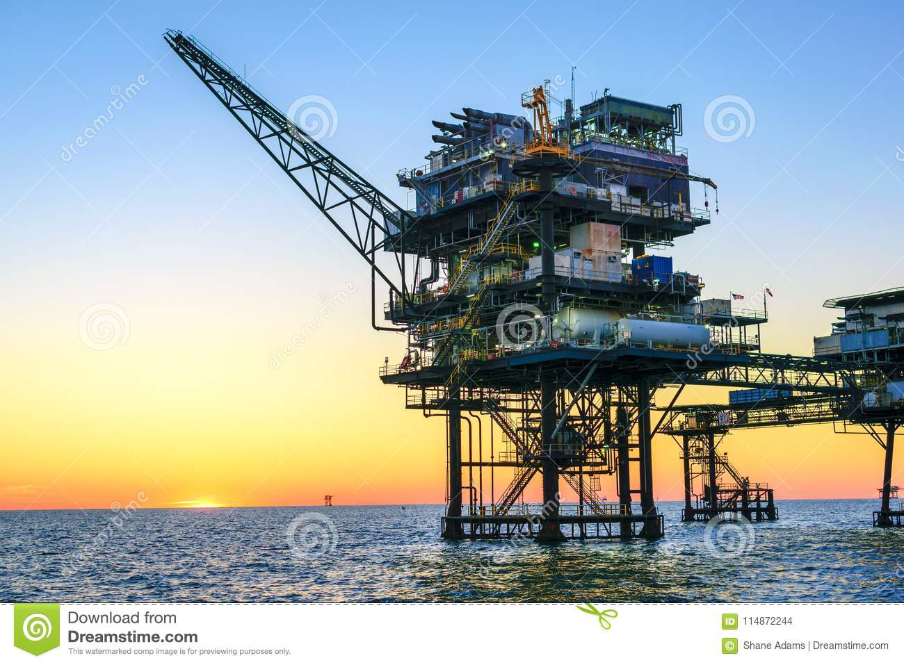 Offshore Oil Platform stock photo  Image of waterscape