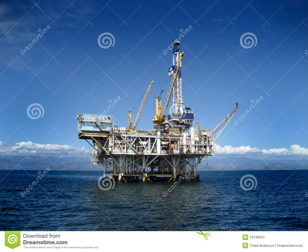 Download Offshore Oil Rig Drilling Platform Stock Image - Image of outdoors, black: 16136631