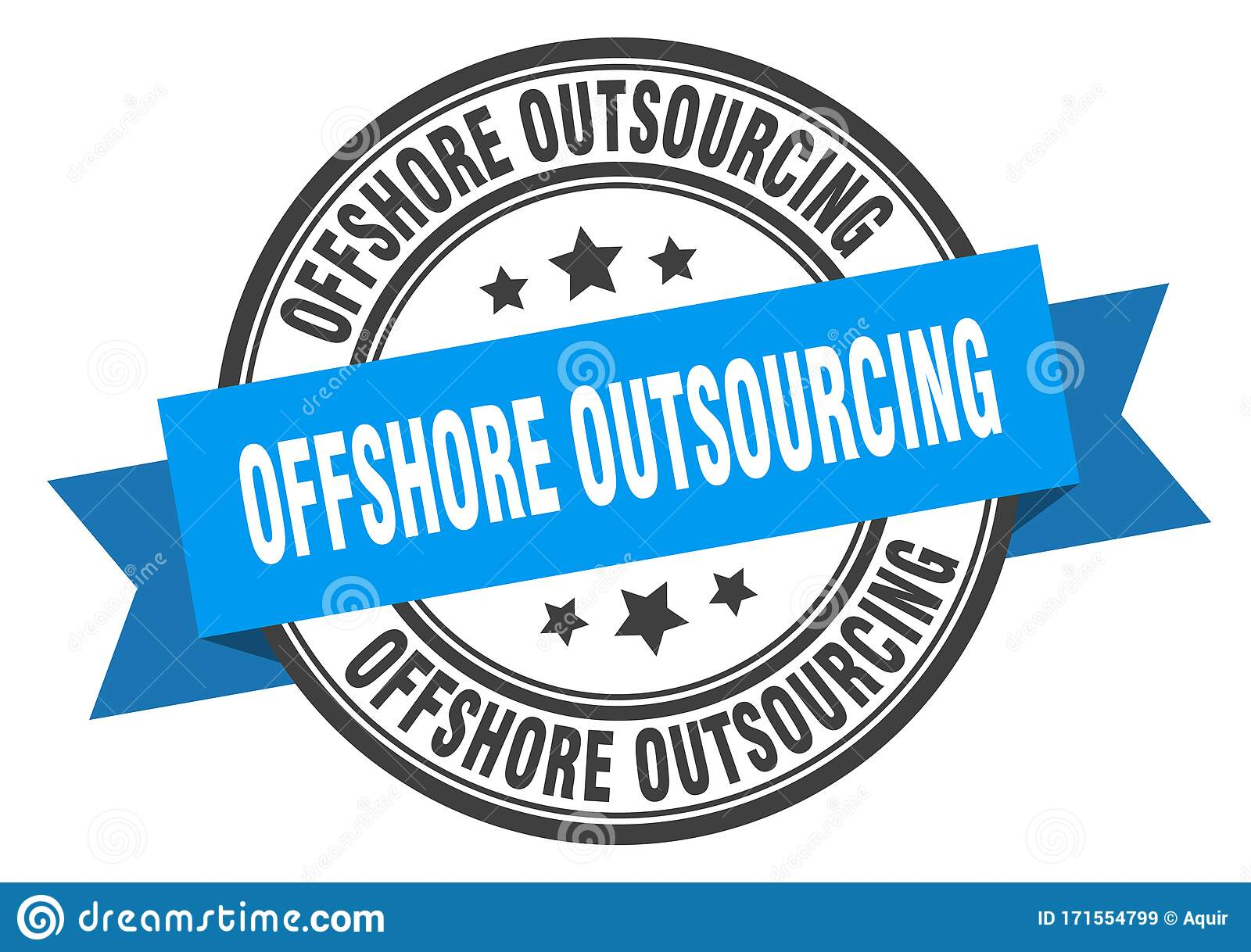 Offshore Outsourcing Label. Offshore Outsourcing Round Band Sign. Stock  Vector - Illustration of circle, outsourcing: 171554799