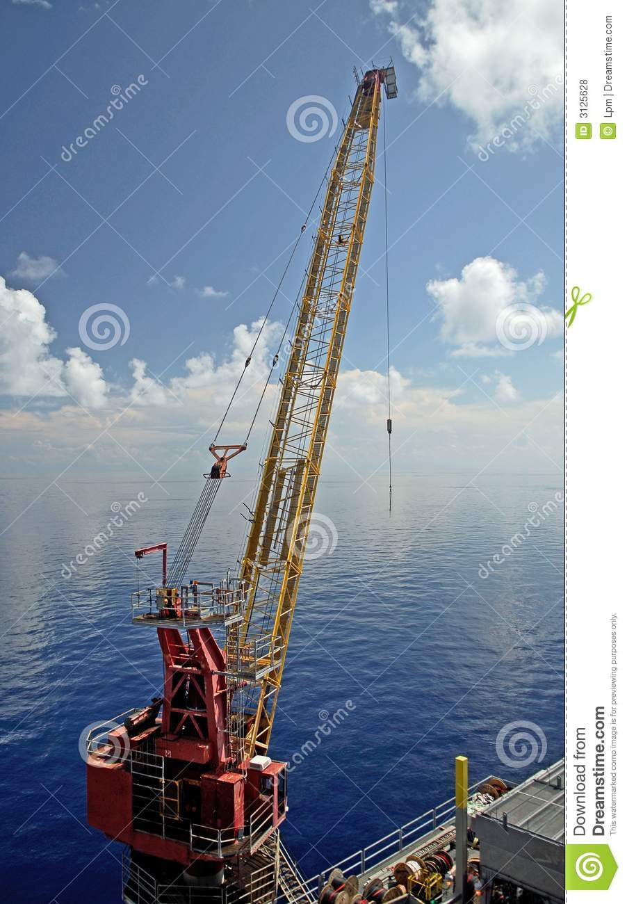 Offshore Rig Crane Stock Photo Image Of Lift Vessel