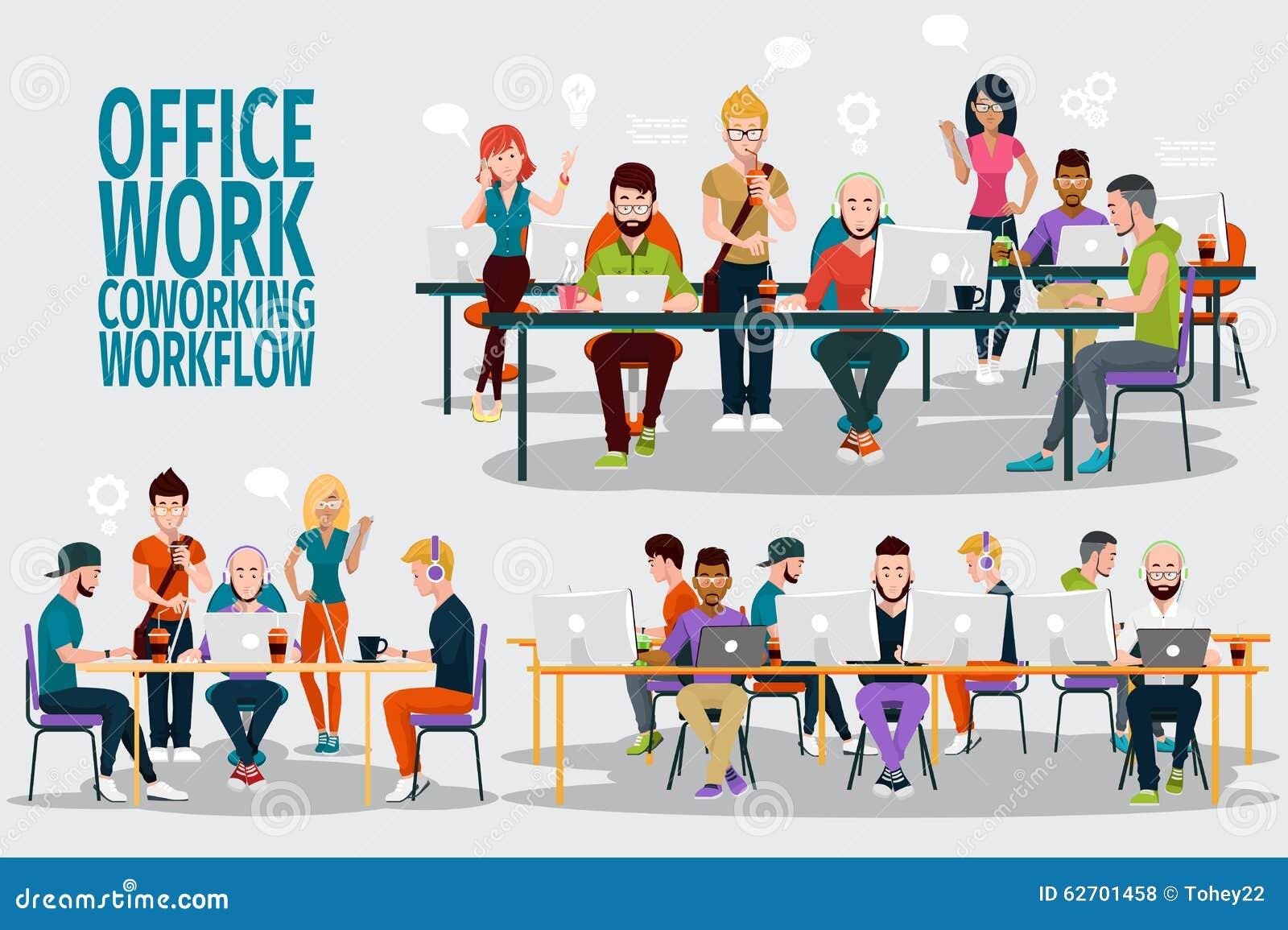 小组ofice工作 向量例证 - 图片: 62701458图片