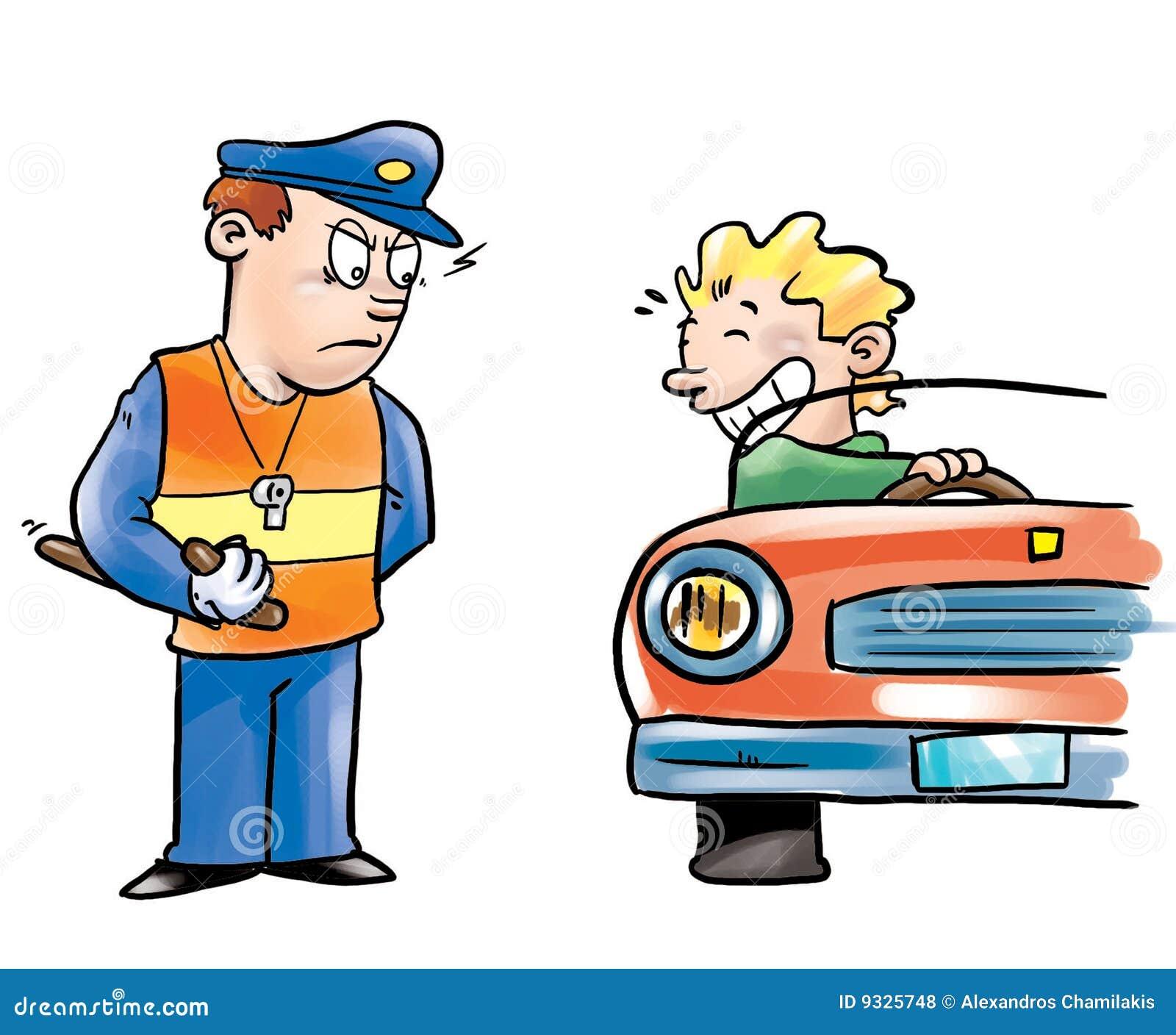Oficial e excitador de polícia