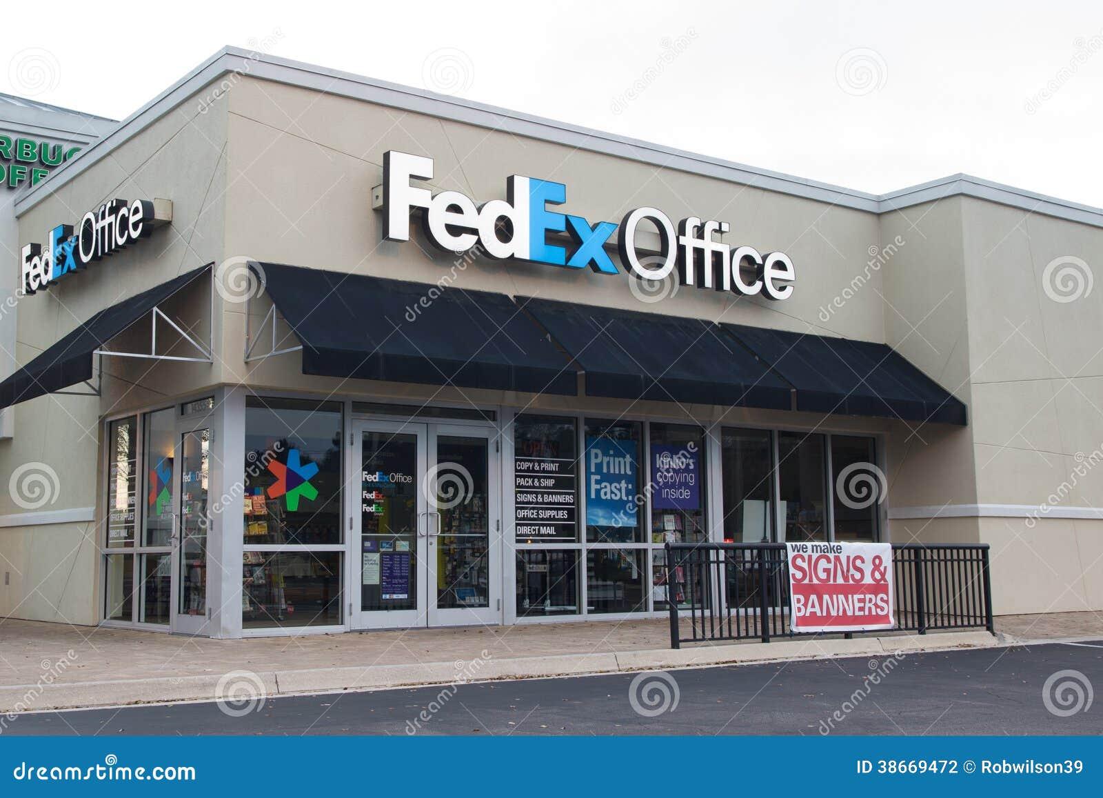 oficina de fedex fotograf a editorial imagen 38669472