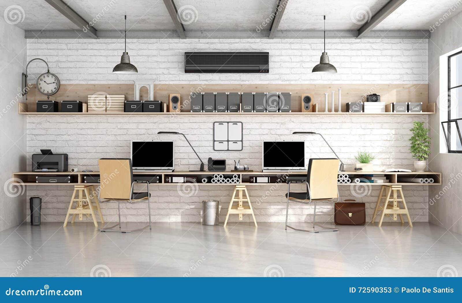 Oficina de la arquitectura o de ingenier a en estilo for Oficinas de ing