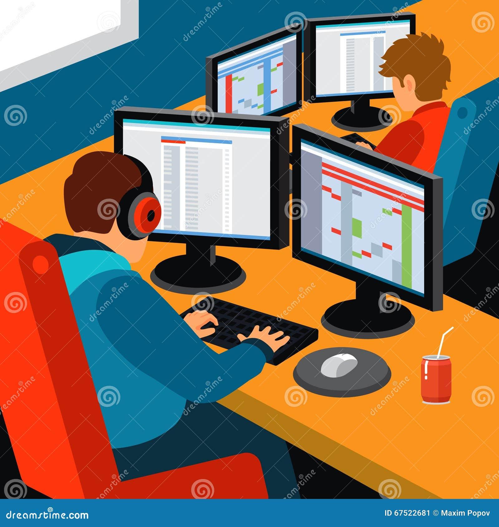 Oficina del desarrollo de programas imagen de archivo imagen de compa a var n 67522681 - Programas para oficina ...