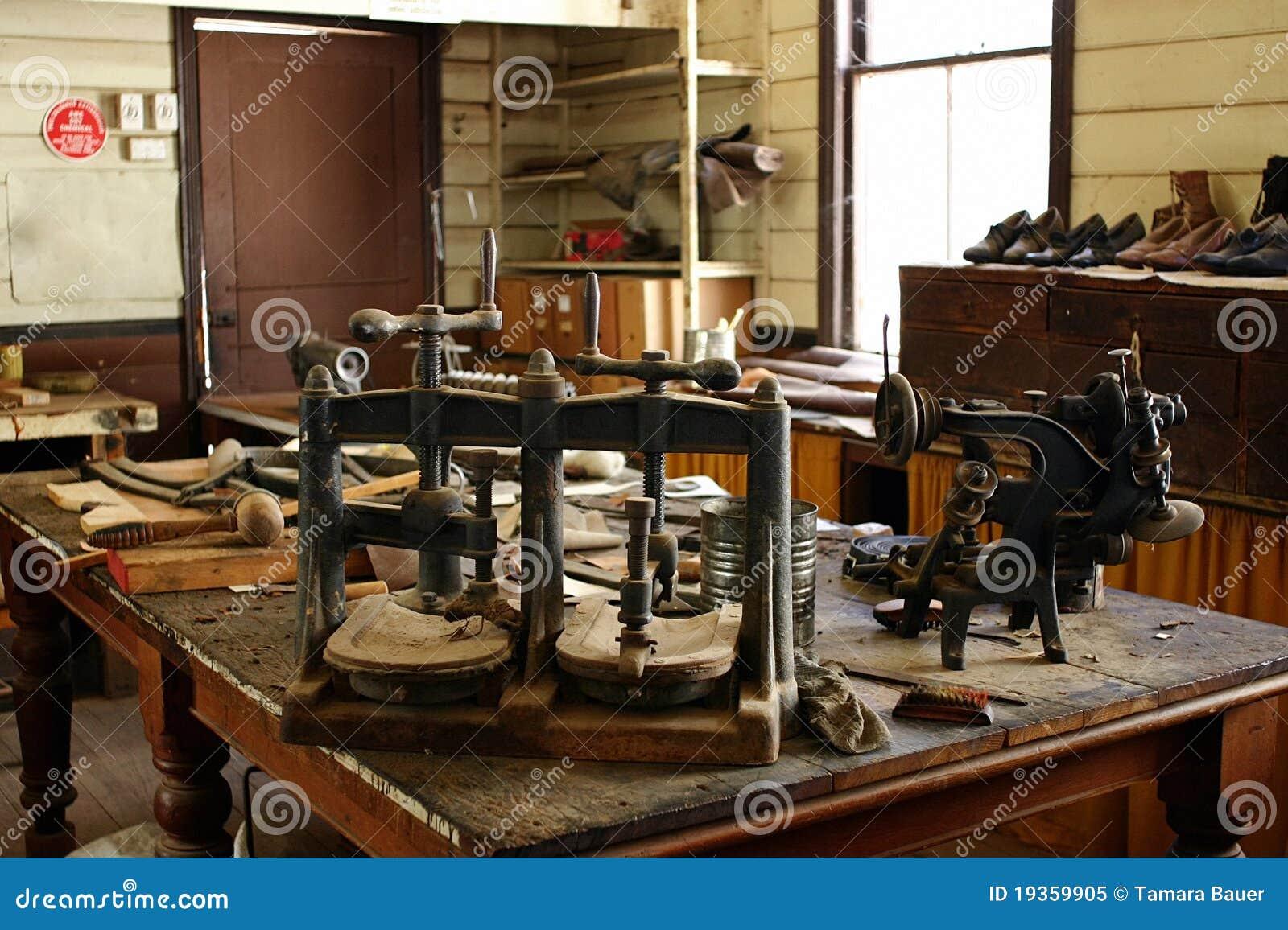 Oficina do fabricante de sapata