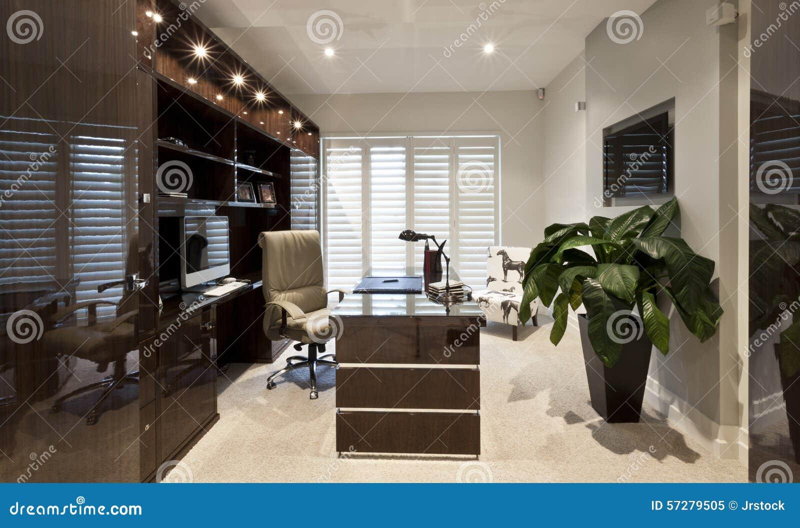 Oficina Lujosa Del Trabajo Imagen De Archivo Imagen De