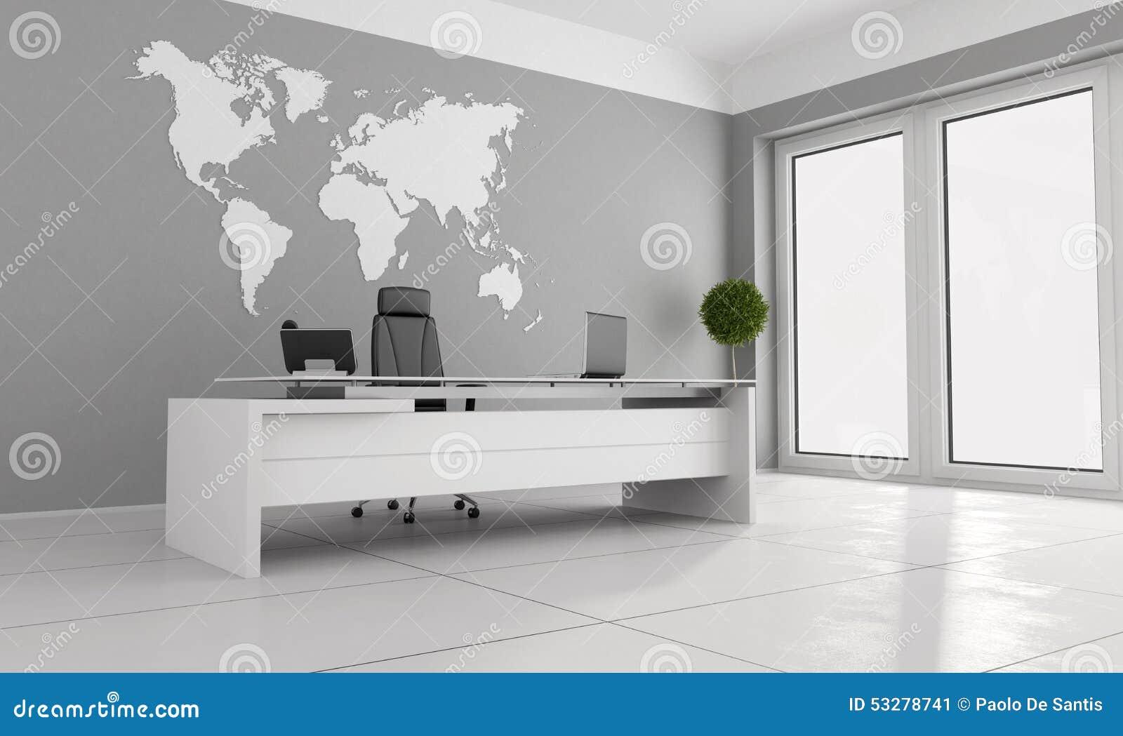 Oficina minimalista stock de ilustraci n imagen 53278741 for Interiores de oficinas minimalistas