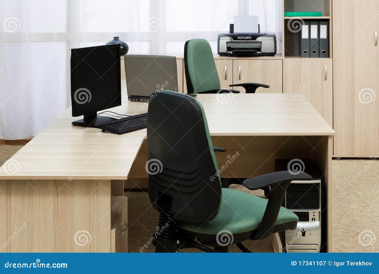 Oficina moderna del escritorio imagen de archivo imagen for Silla escritorio moderna