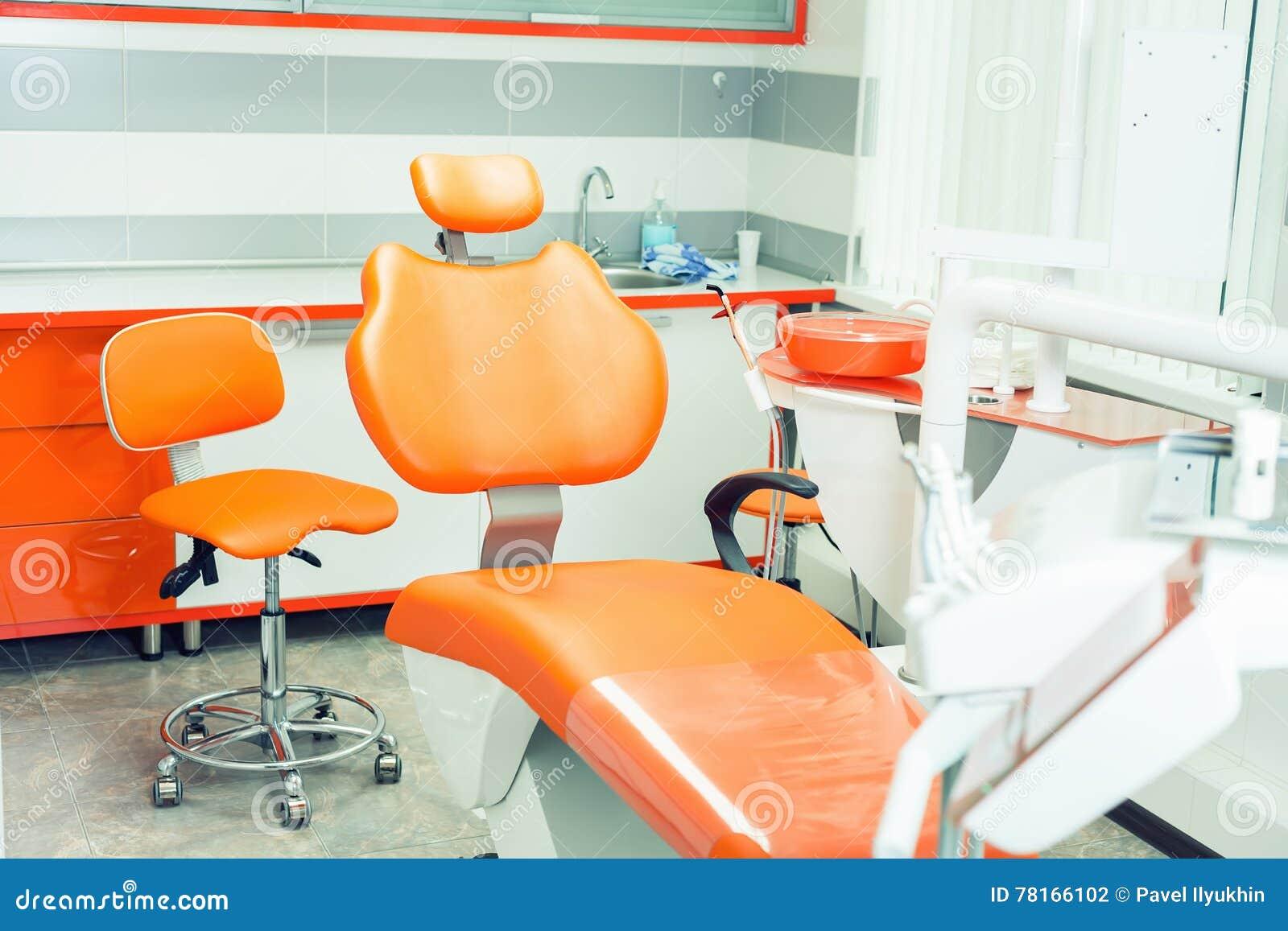 Oficina moderna dental Interior de la odontología Equipamiento médico Clínica dental