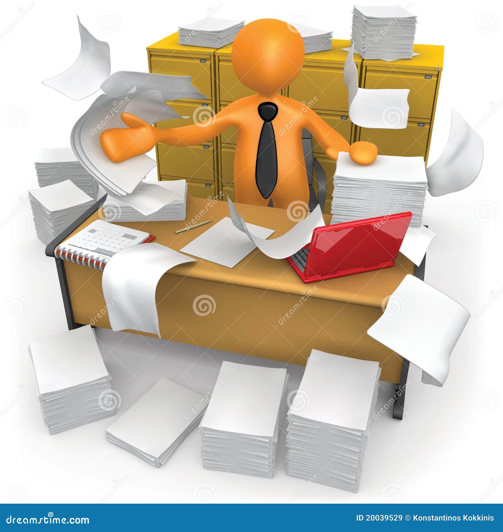 Oficina sucia stock de ilustraci n imagen de papeleo for Oficina de infiltrados temporada 3