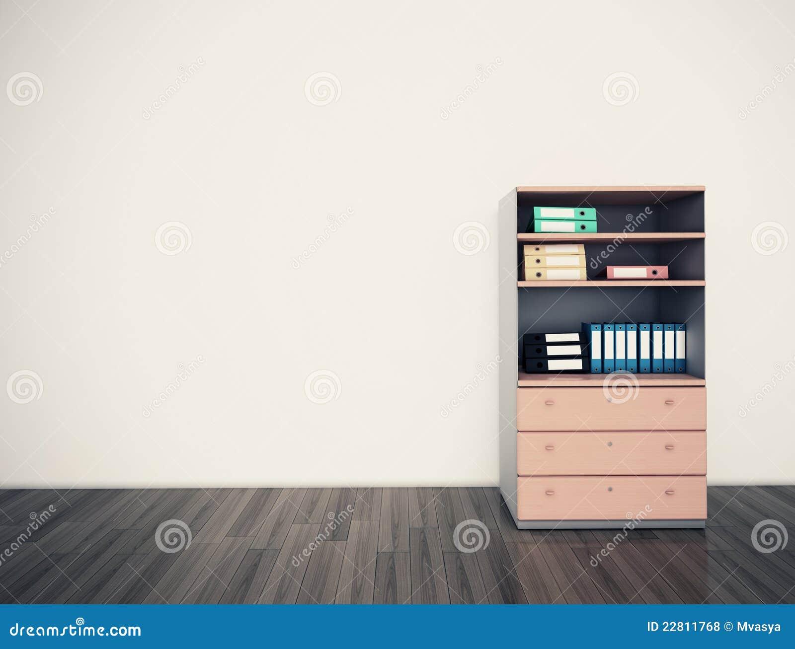 Oficina vacía de la pared