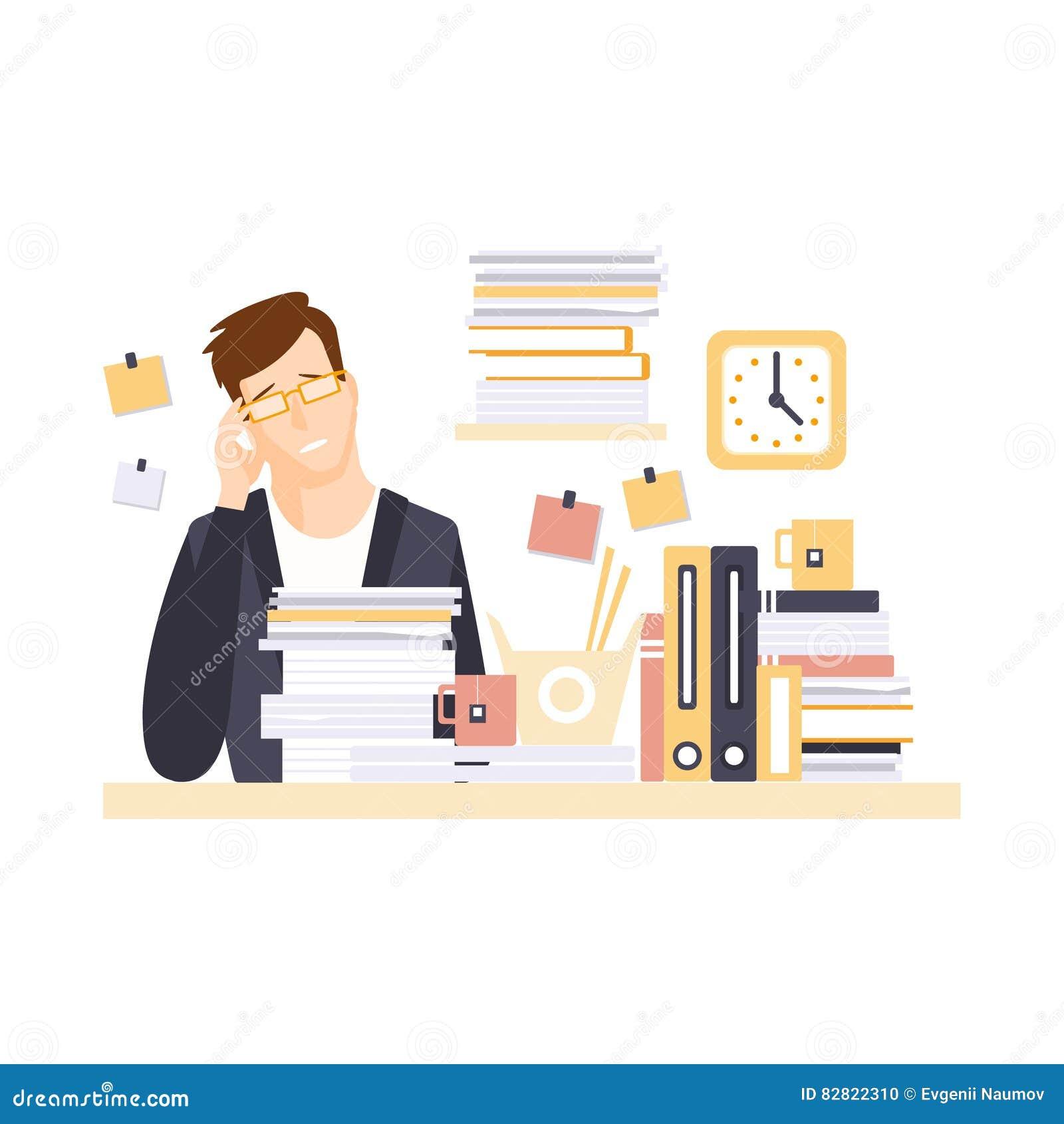 Oficinista del hombre en cub culo de la oficina con el for Que tiene una oficina