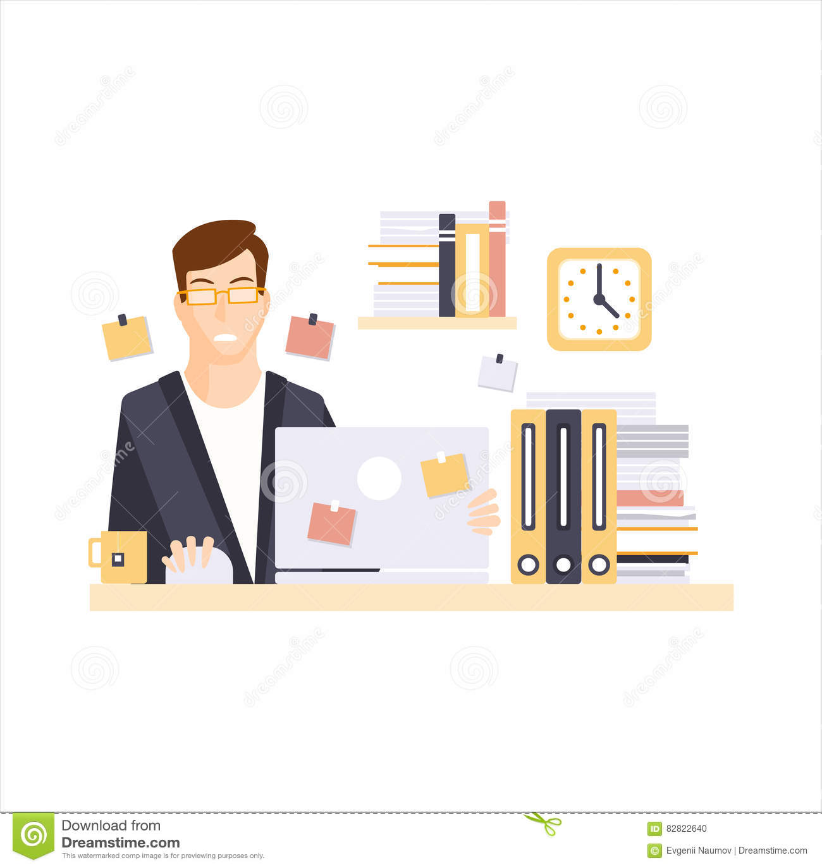 Oficinista infeliz del hombre en el cub culo de la oficina for Que tiene una oficina