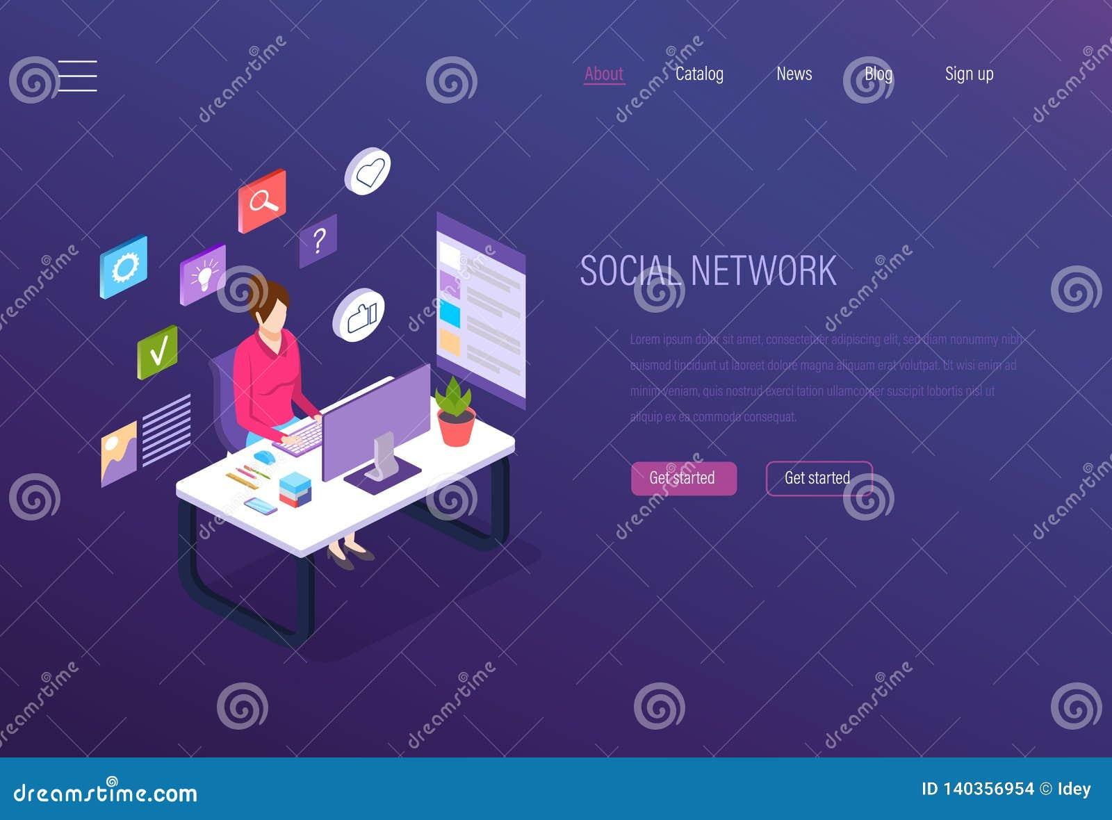 Ogólnospołeczna sieć, ogólnospołeczny medialny marketing, biznesowe analityka, cyfrowe online komunikacje