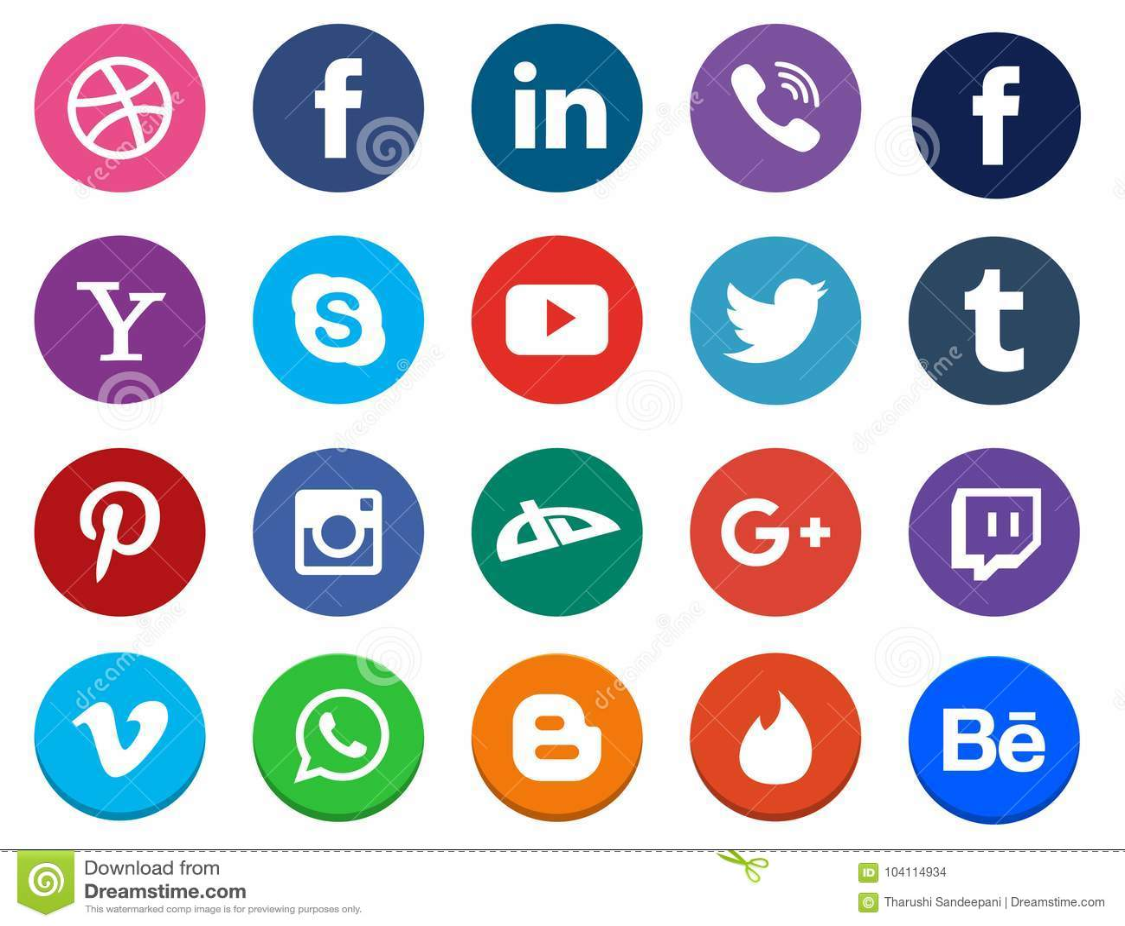 Ogólnospołeczna Medialna ikony kolekcja