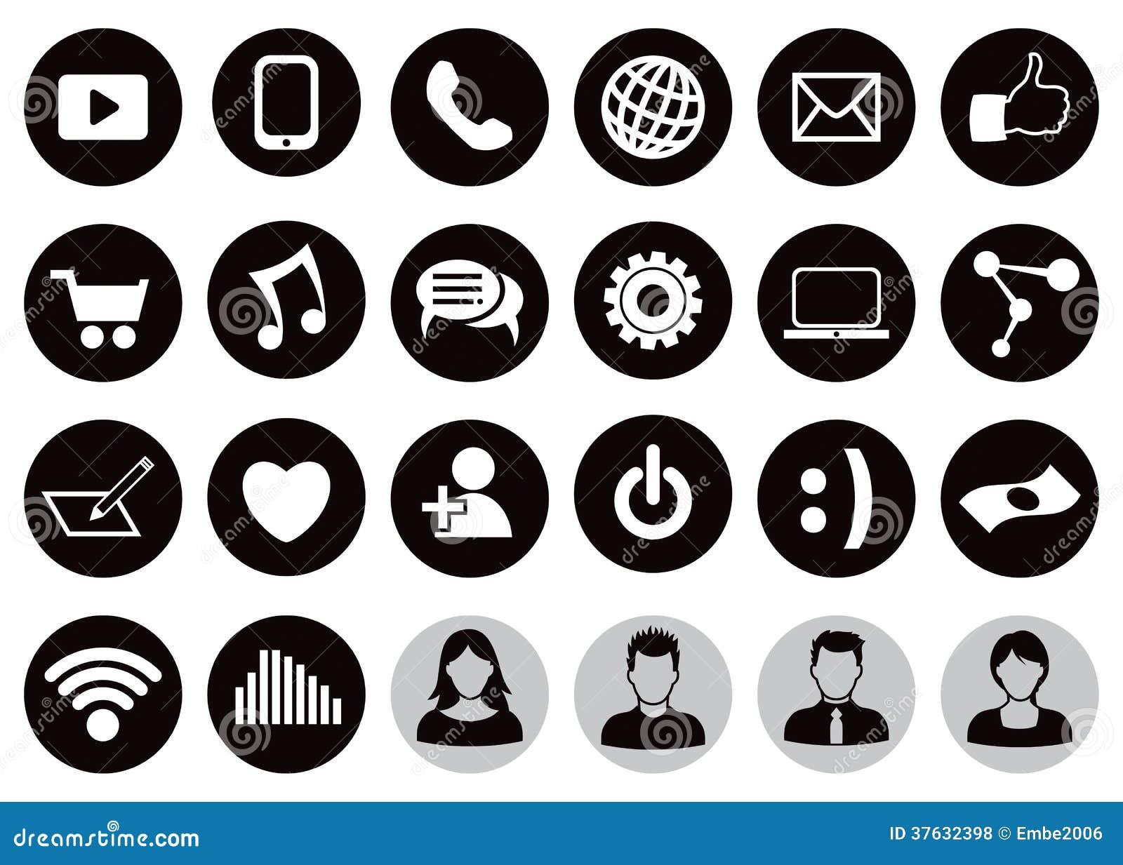 Ogólnospołecznej technologii ikony set