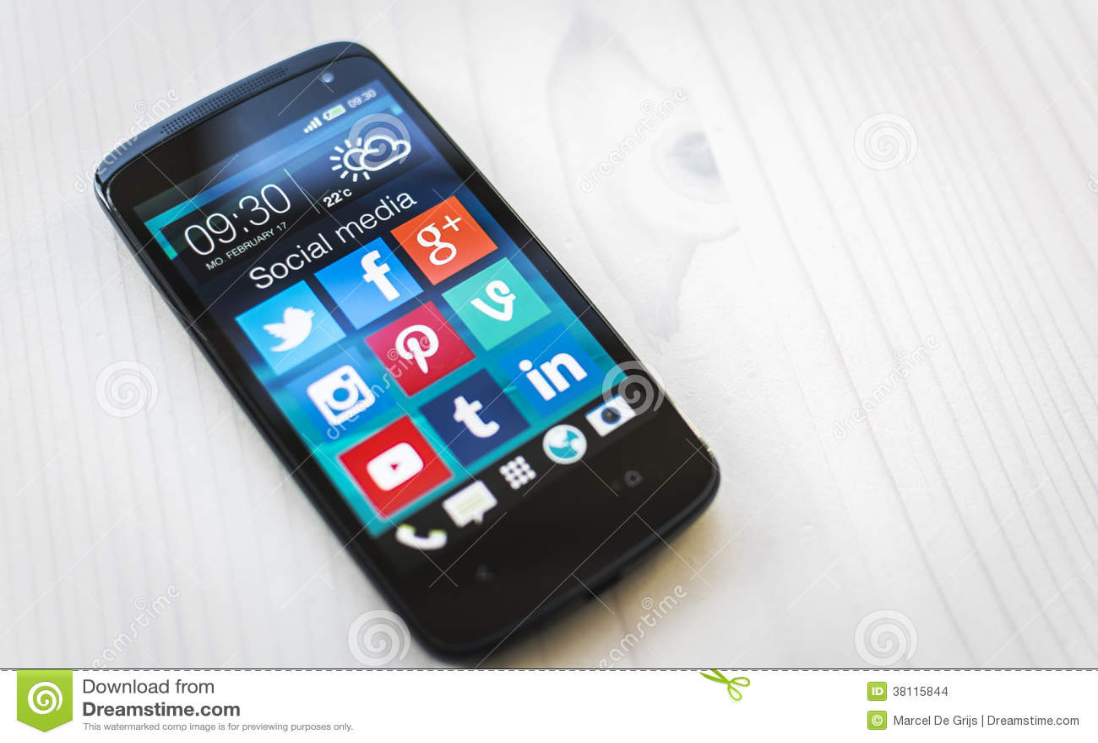 Ogólnospołeczni medialni apps na Samsung smartphone
