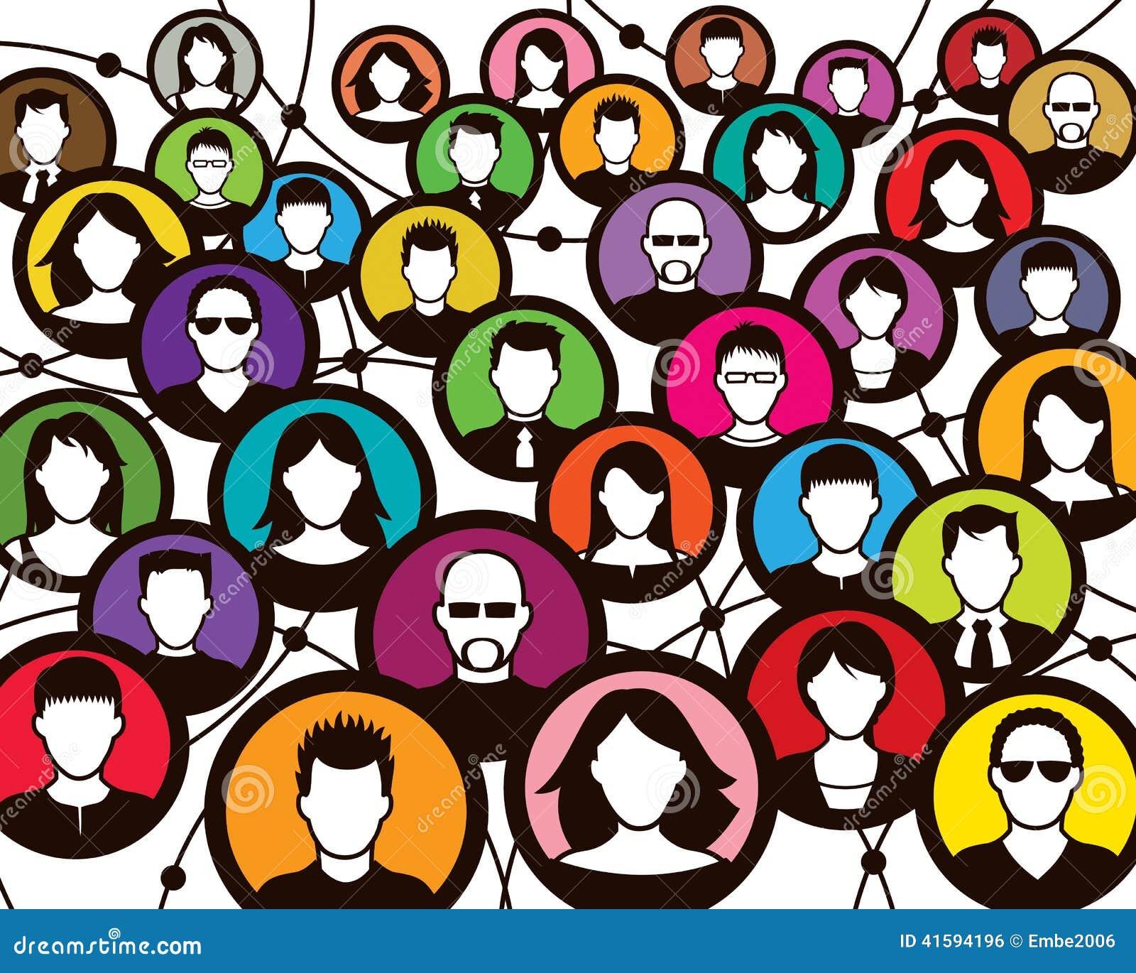 Ogólnospołeczni tłumów ludzie