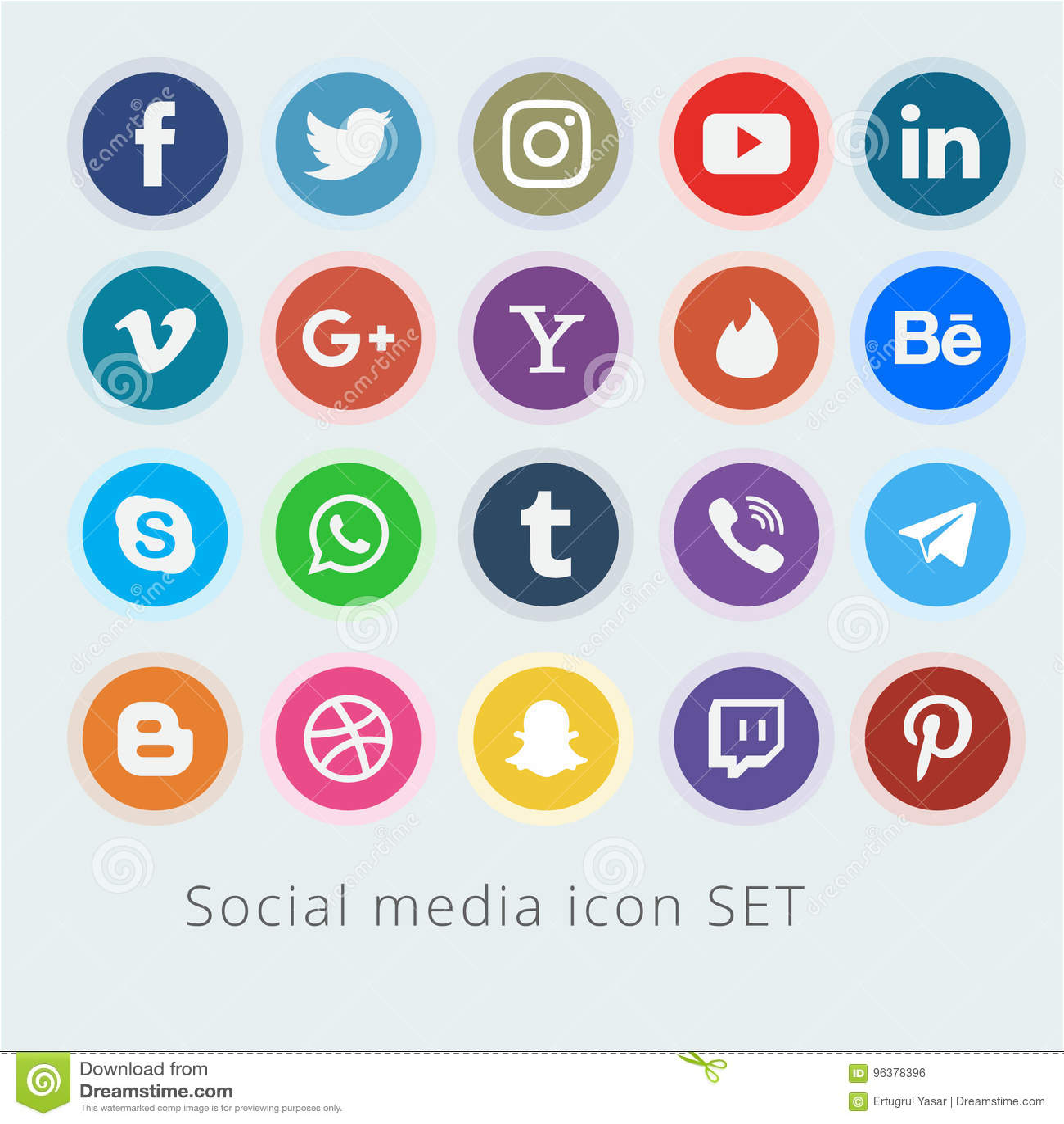 Ogólnospołeczny medialny logo kolekci wektor