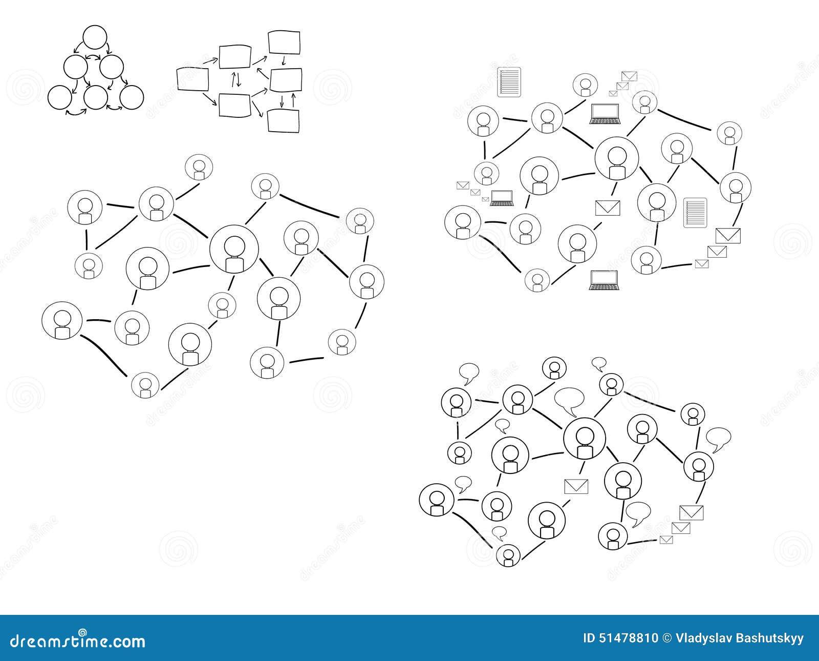 Ogólnospołeczny Medialny sieci ilustraci set, wektor