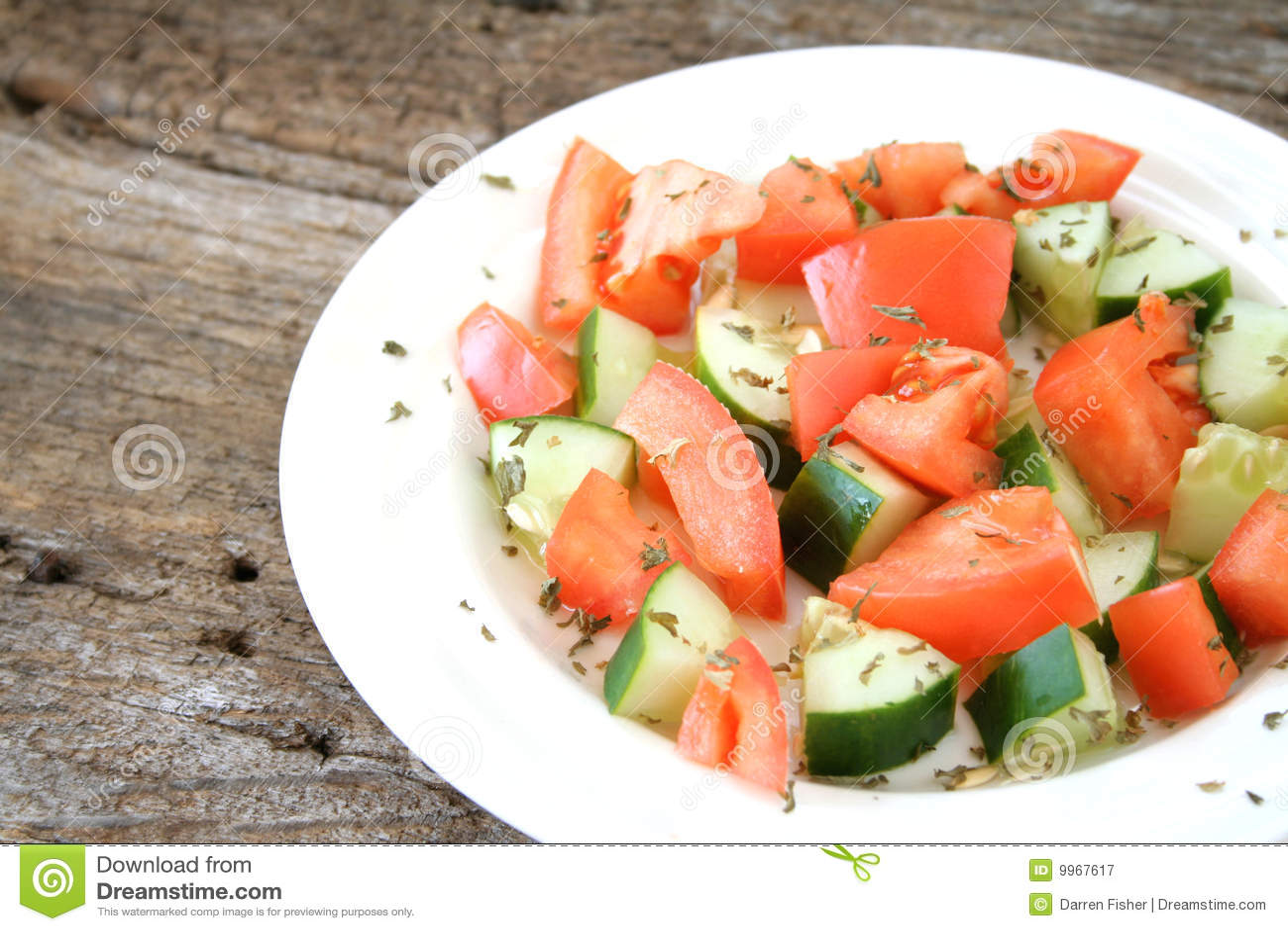 Ogórkowy sałatkowy pomidor