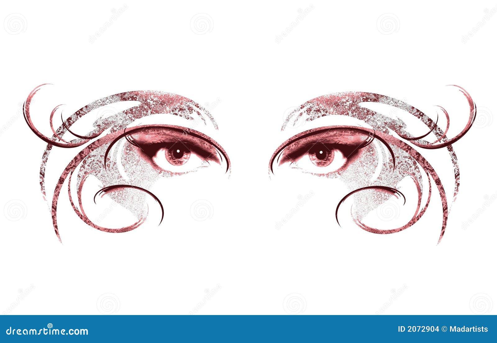 Ogen die van Vrouw Masker 2 dragen