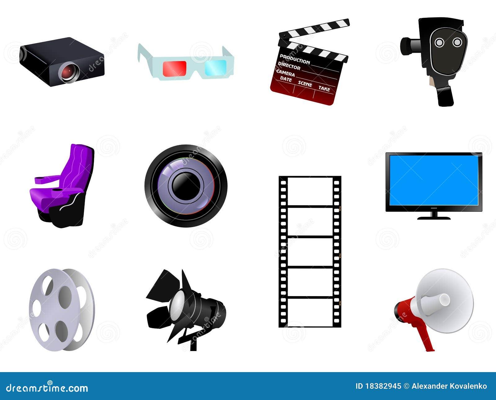 Oggetti cinematografici fotografia stock libera da diritti for Programmi per progettare oggetti
