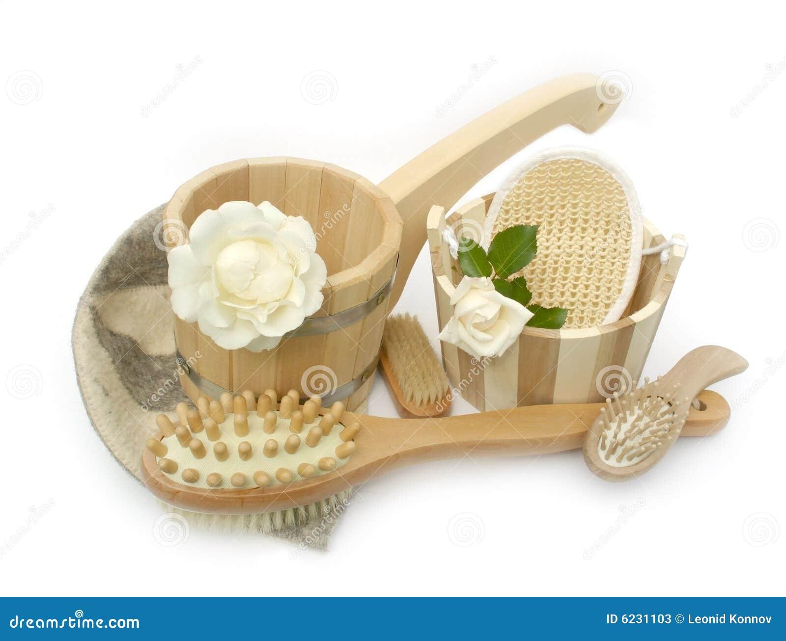 Oggetti del bagno immagine stock immagine di rose protezione 6231103 - Oggettistica bagno ...