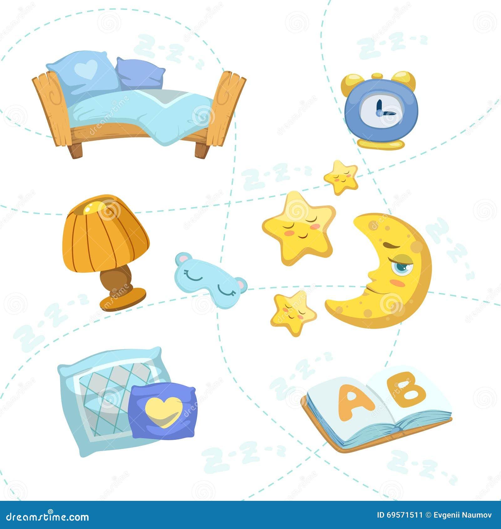 Oggetti della camera da letto del bambino messi for Oggetti per camera da letto