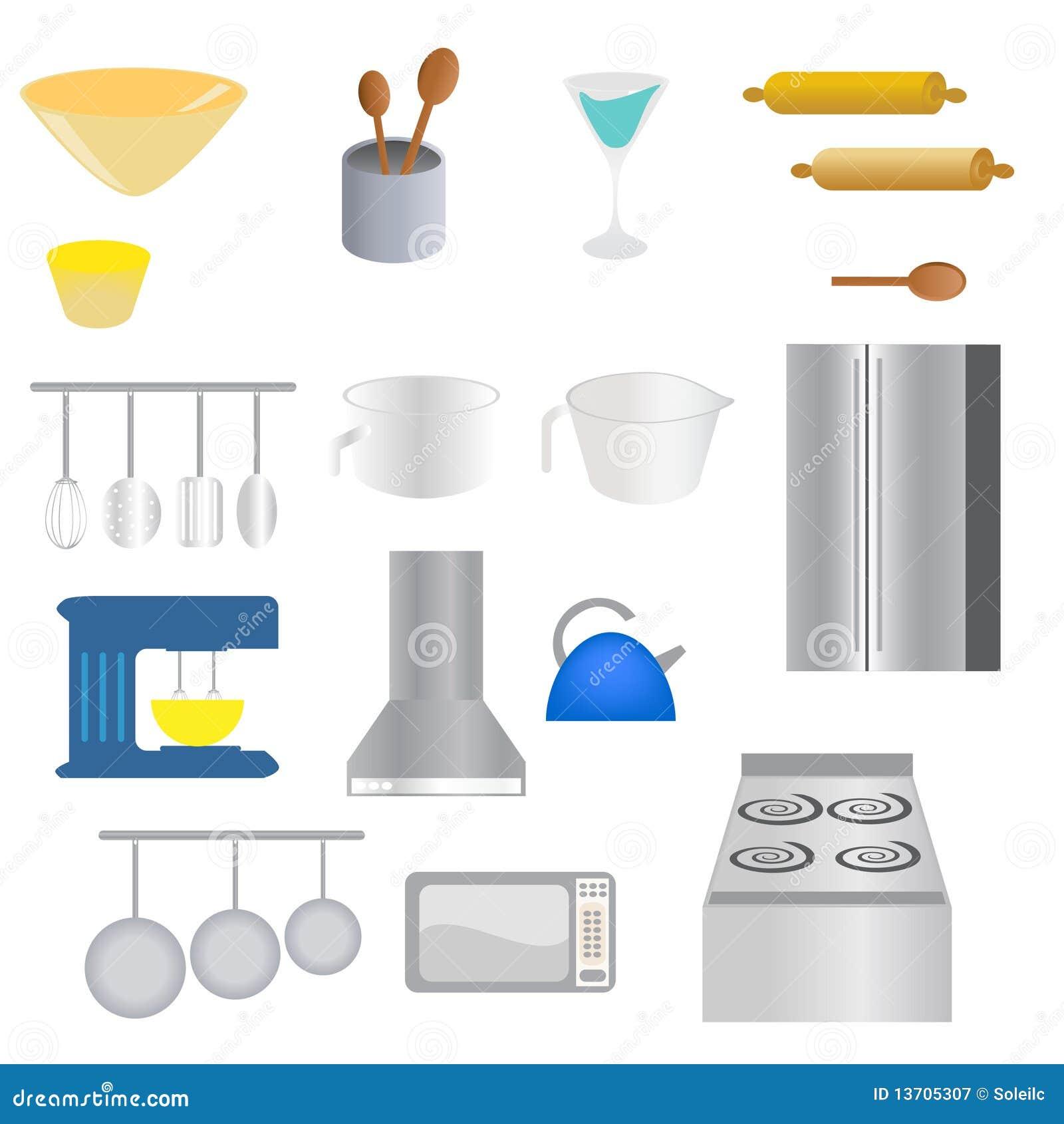Oggetti della cucina illustrazione vettoriale. Illustrazione di ...