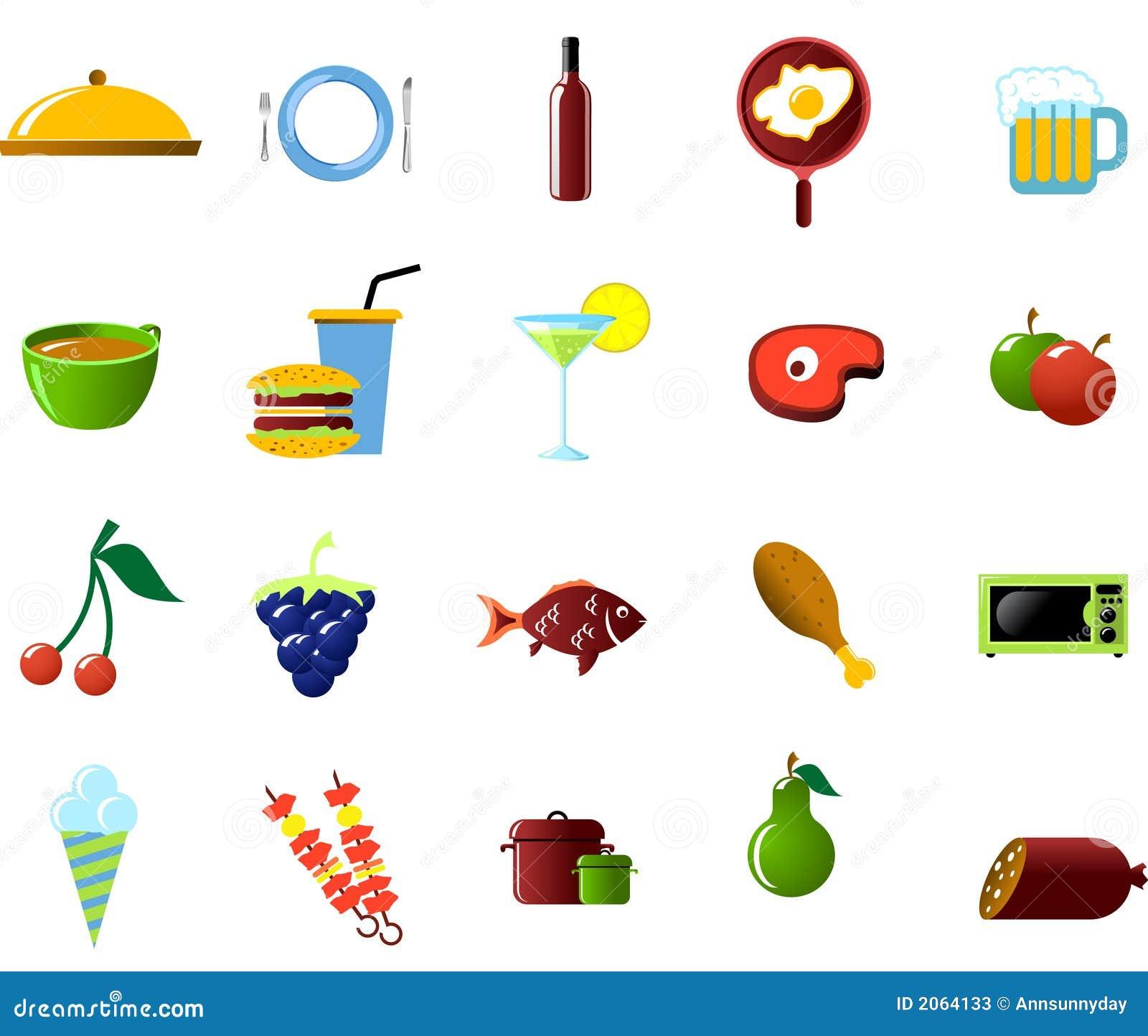Oggetti Della Cucina E Dell\'alimento Illustrazione Vettoriale ...