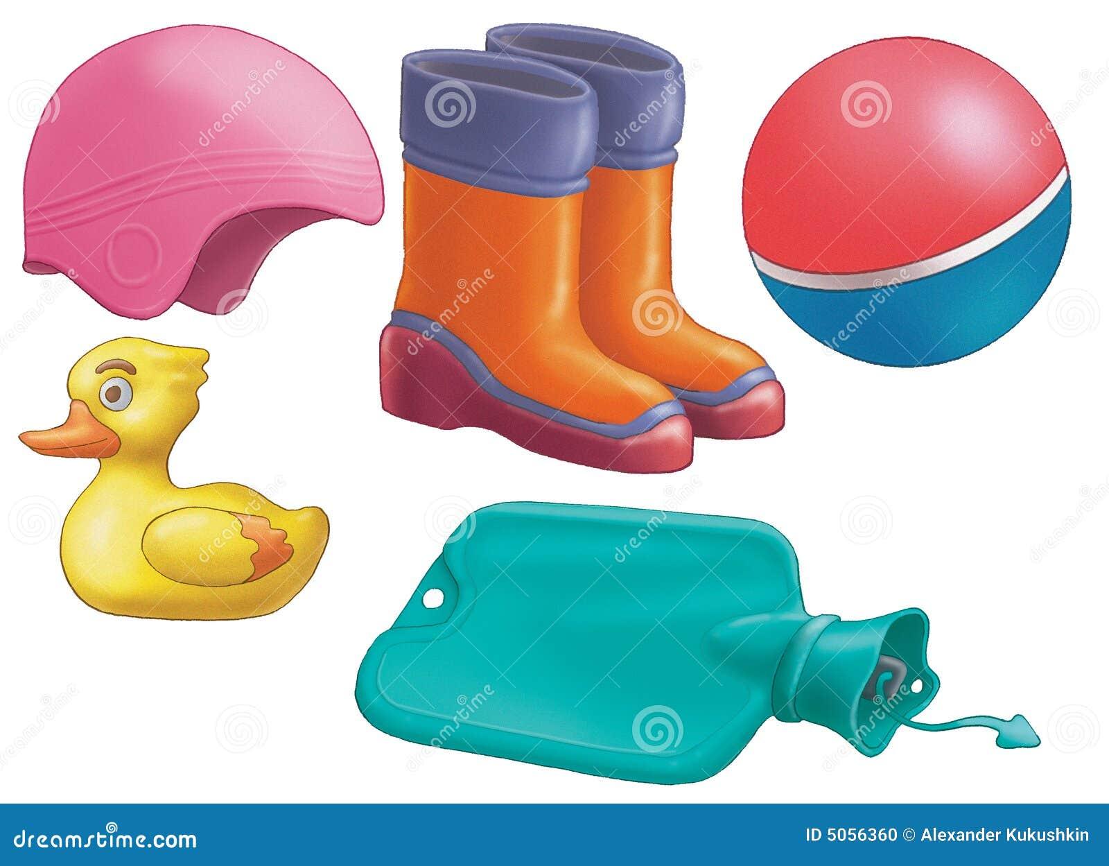 oggetti di gomma illustrazione di stock illustrazione di
