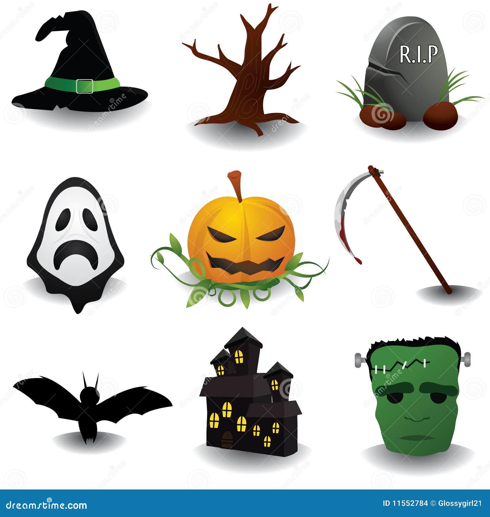 oggetti di halloween immagini stock immagine 11552784