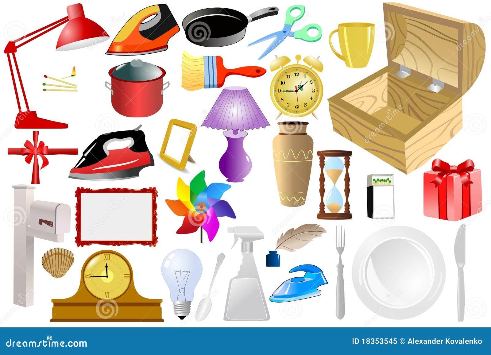 Oggetti domestici illustrazione vettoriale illustrazione for Programmi per progettare oggetti