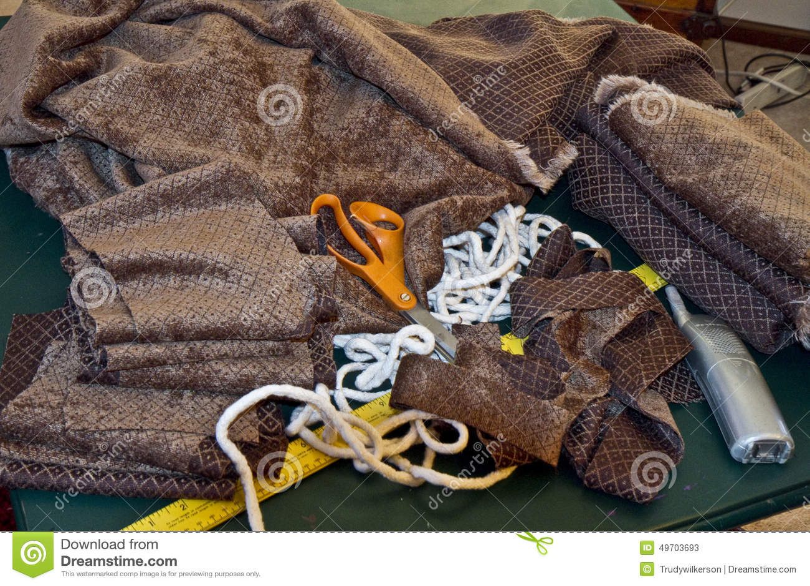 Oggetti essenziali e di cuciti di Upholstry