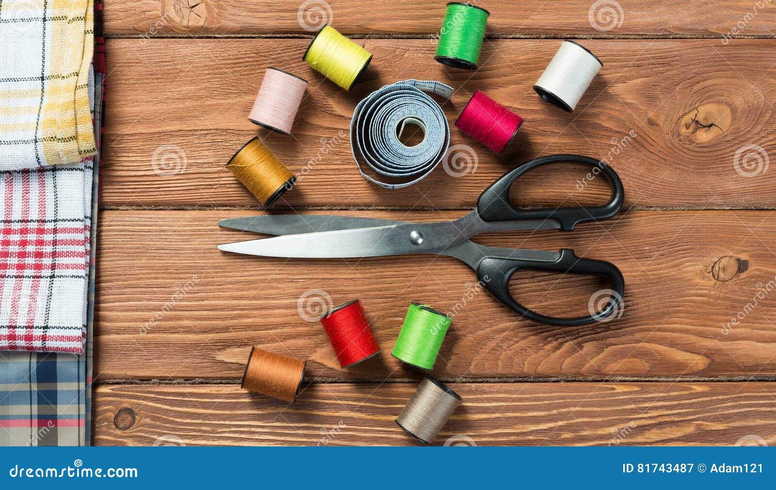 Oggetti per il cucito o diy fotografia stock immagine for Accessori cucito
