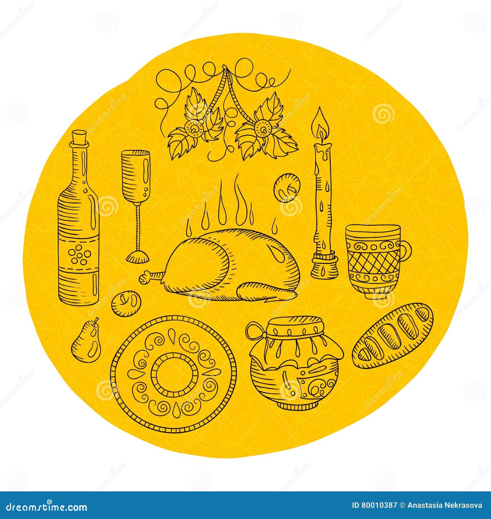Oggetti Per La Cucina Giorno Di Ringraziamento Utensili D\'annata ...