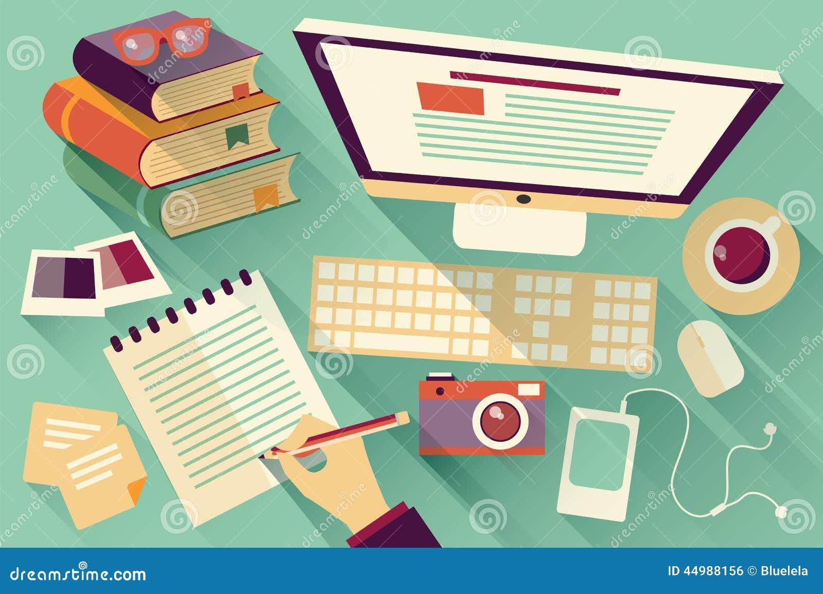 Oggetti piani di progettazione scrittorio del lavoro for Piani di idee di progettazione seminterrato