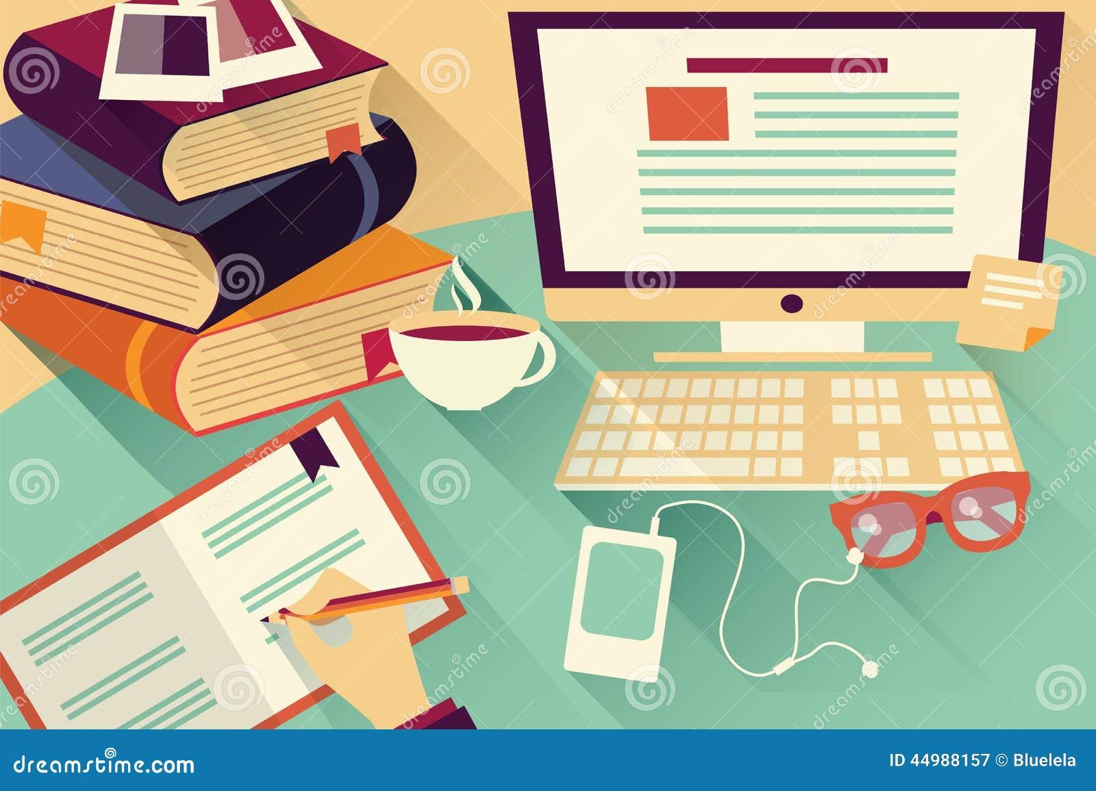 Oggetti piani di progettazione scrittorio del lavoro for Piani di libri da favola