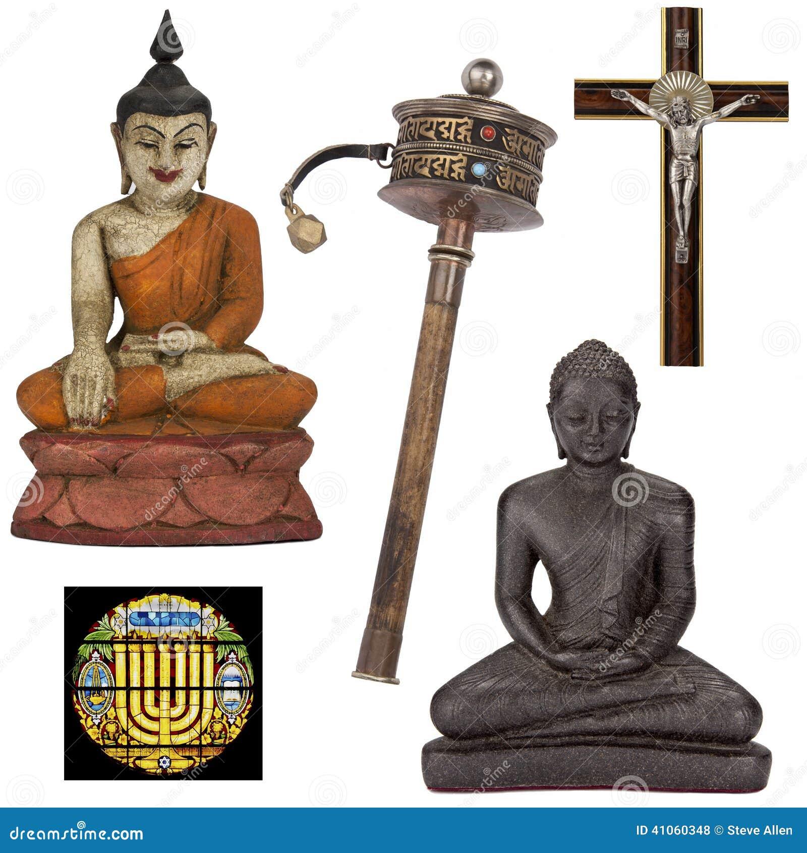 Oggetti religiosi per ritaglio - isolato