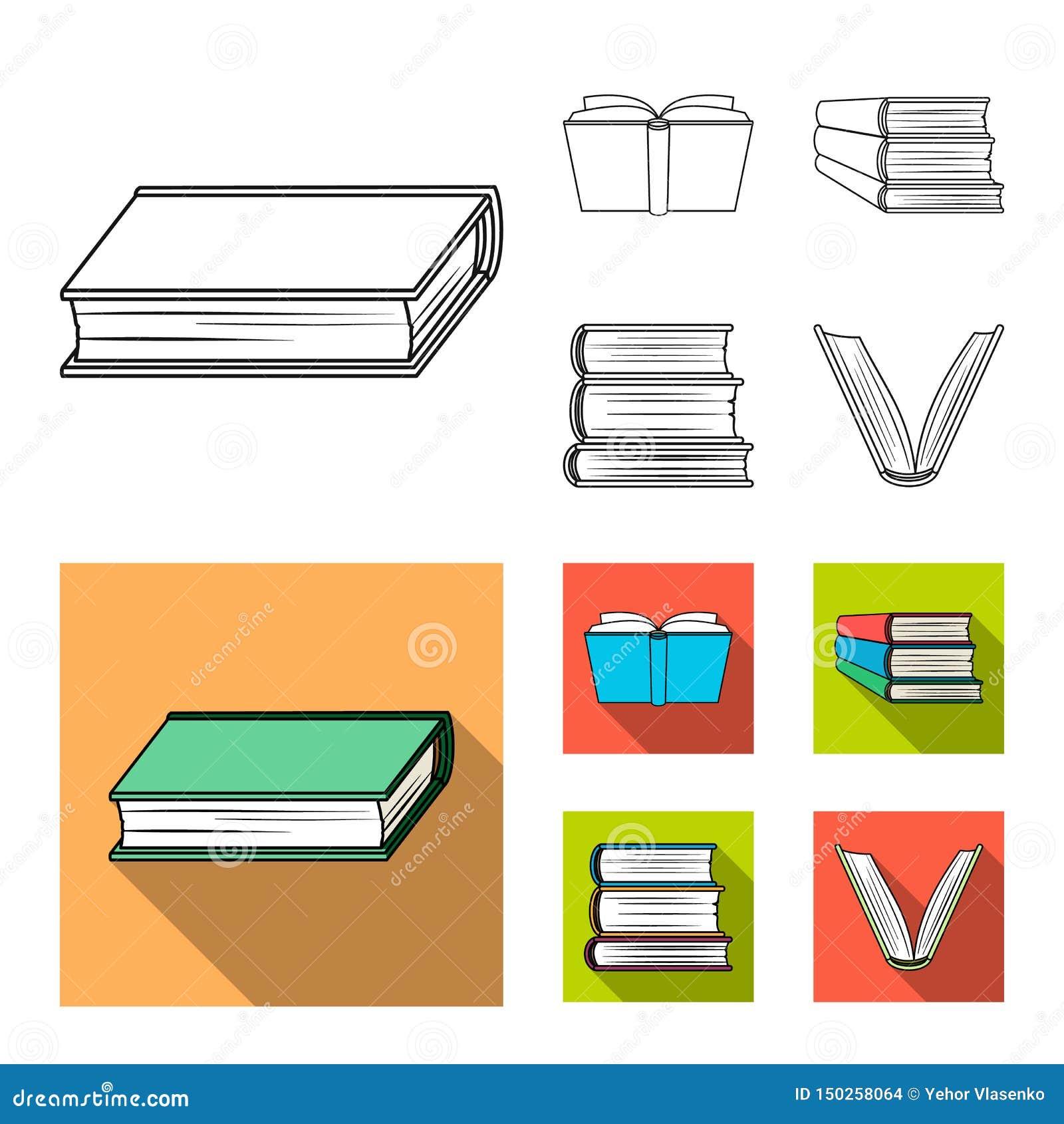 Oggetto isolato dell icona del manuale e delle biblioteche Raccolta dell icona di vettore della scuola e delle biblioteche per le