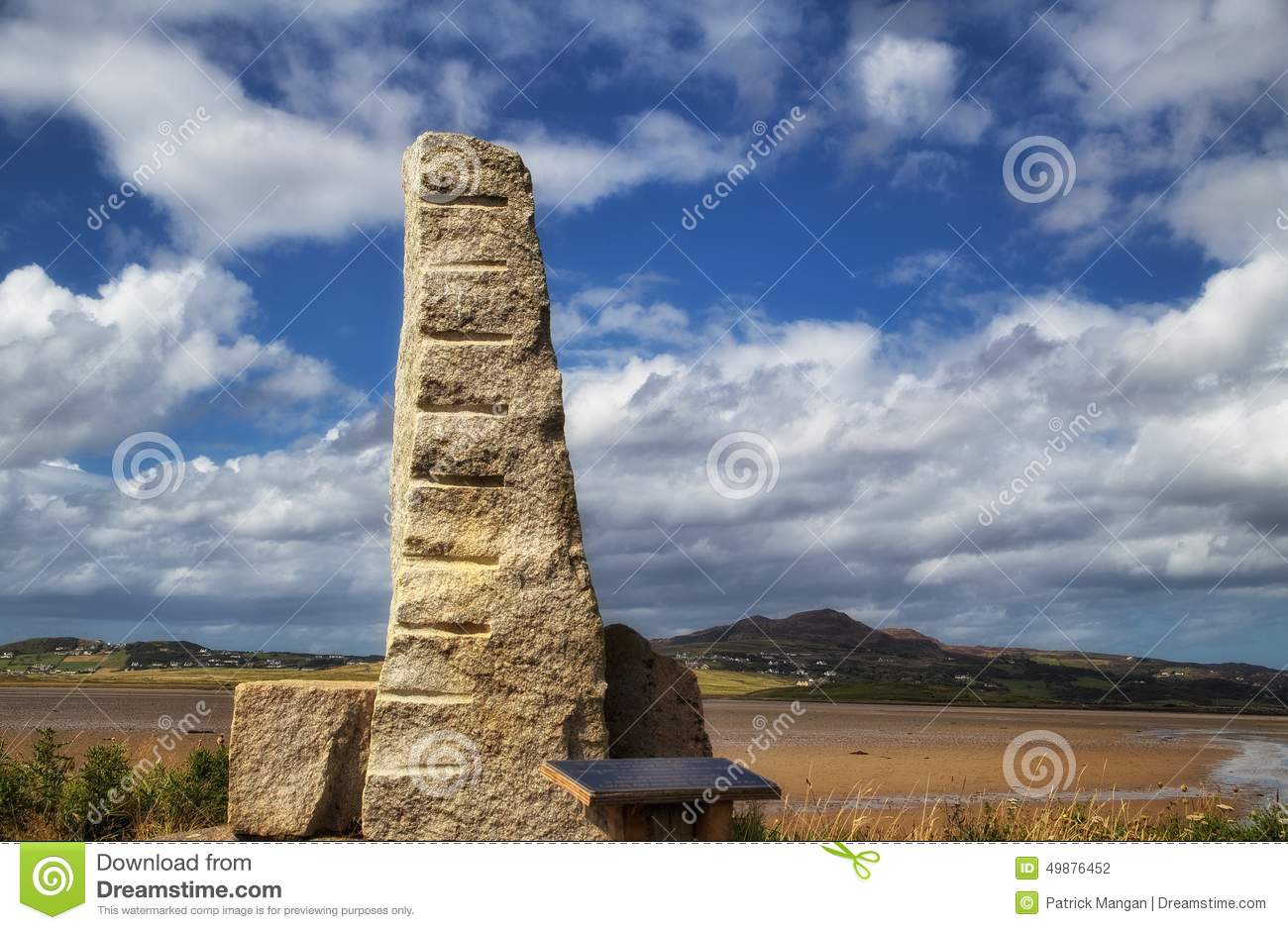 Ogham sten, Carrickart, Co Donegal Irland