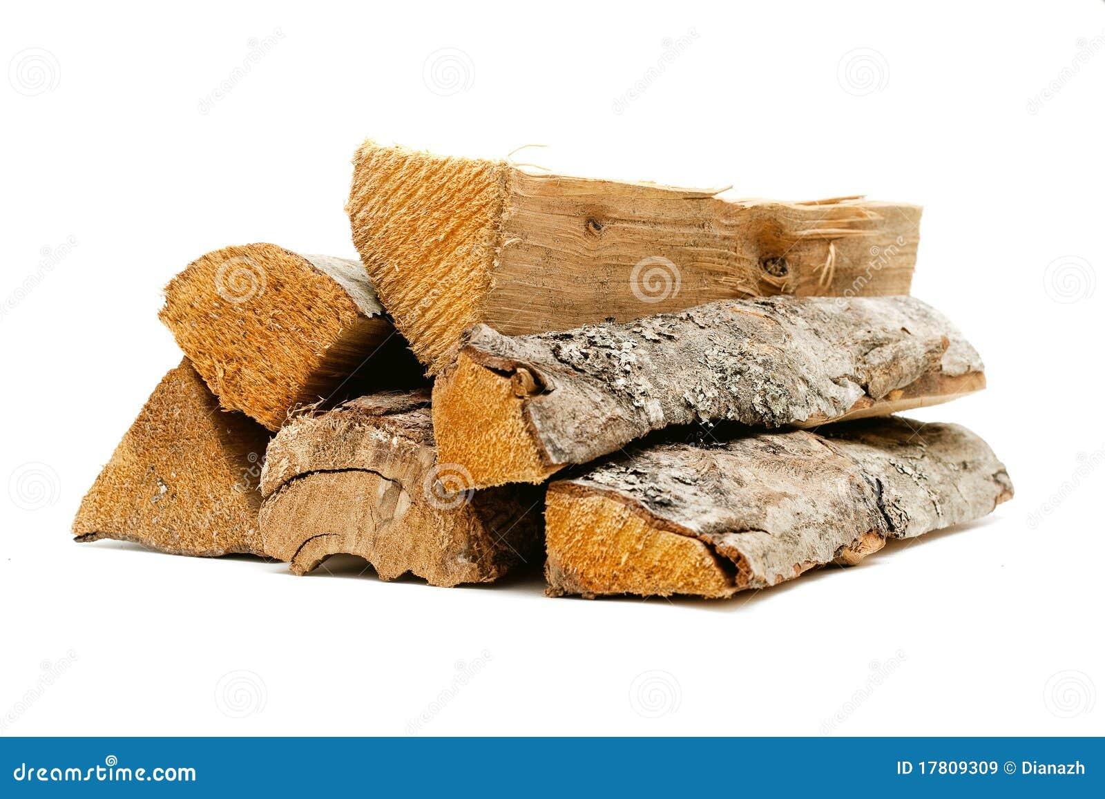 Ogień notuje drewno
