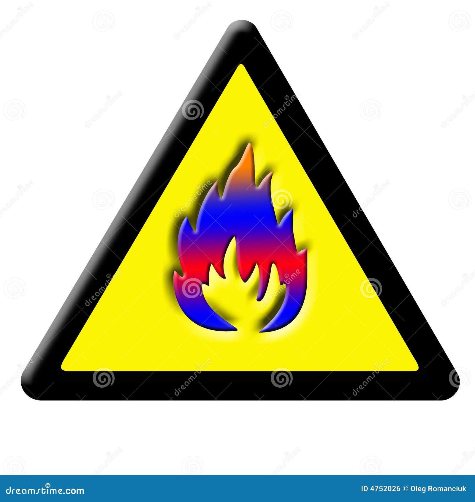 Ogień ostrożność znak