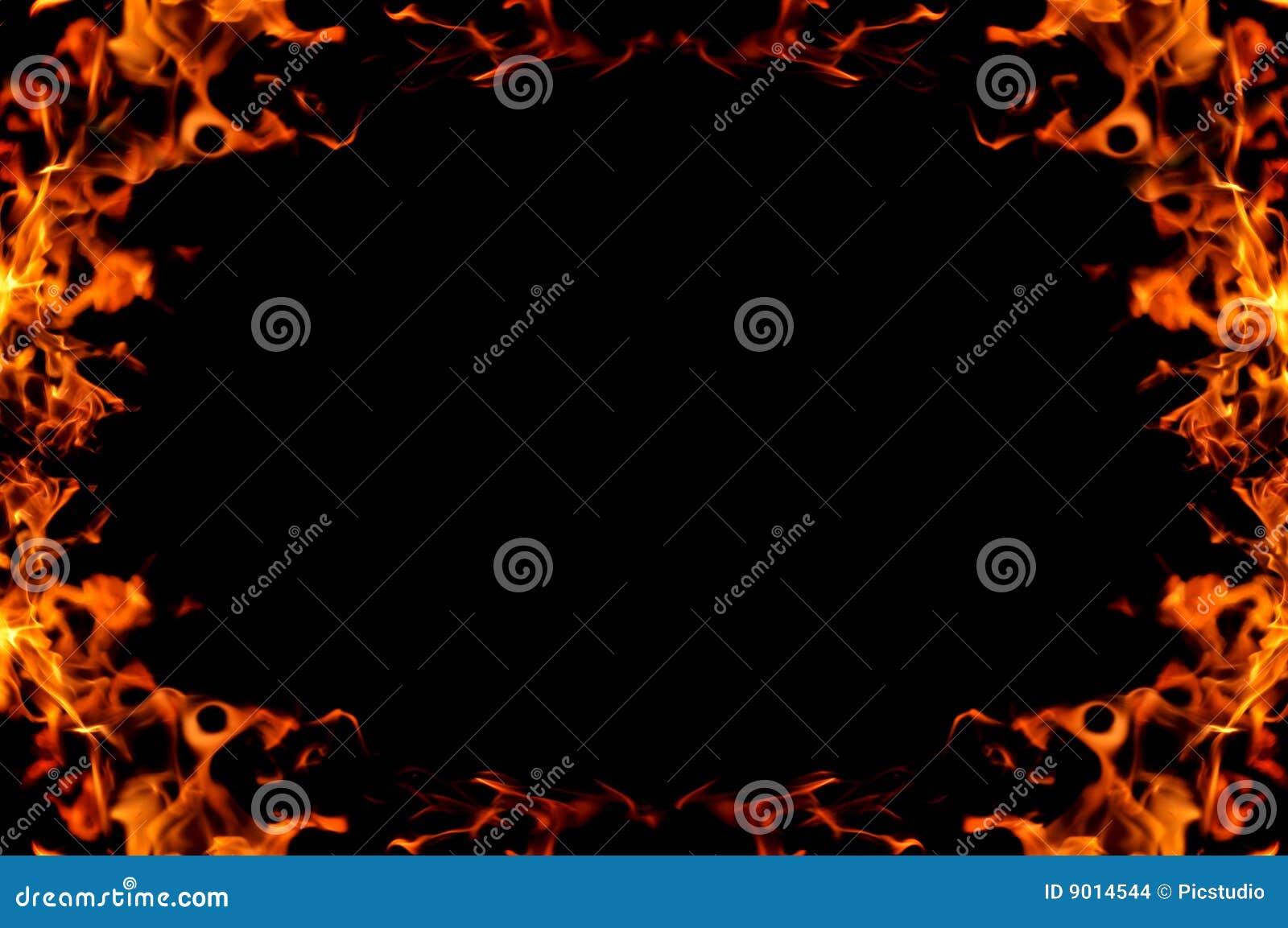 Ogień płonąca rama