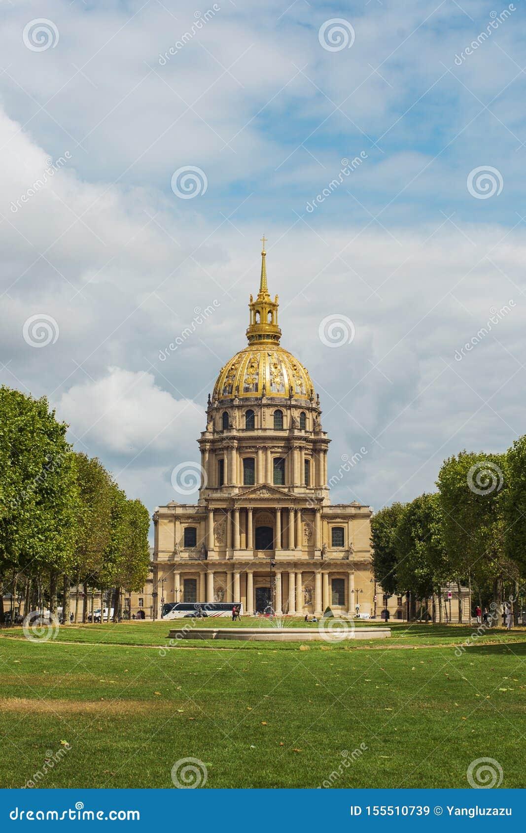Ogiltigt hotell, berömda byggnader i Paris