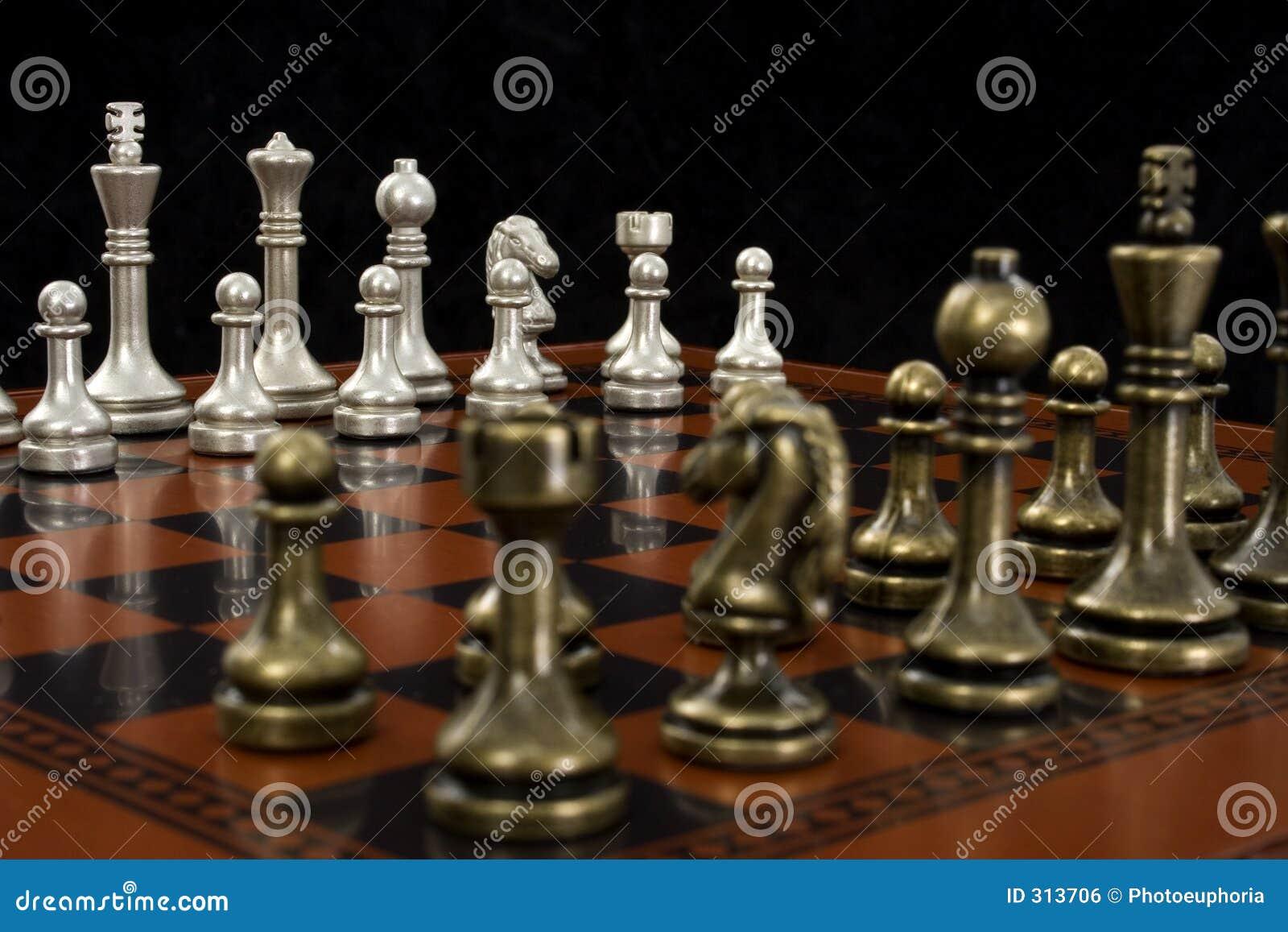 Ogniska szachowi gry światła na kawałki