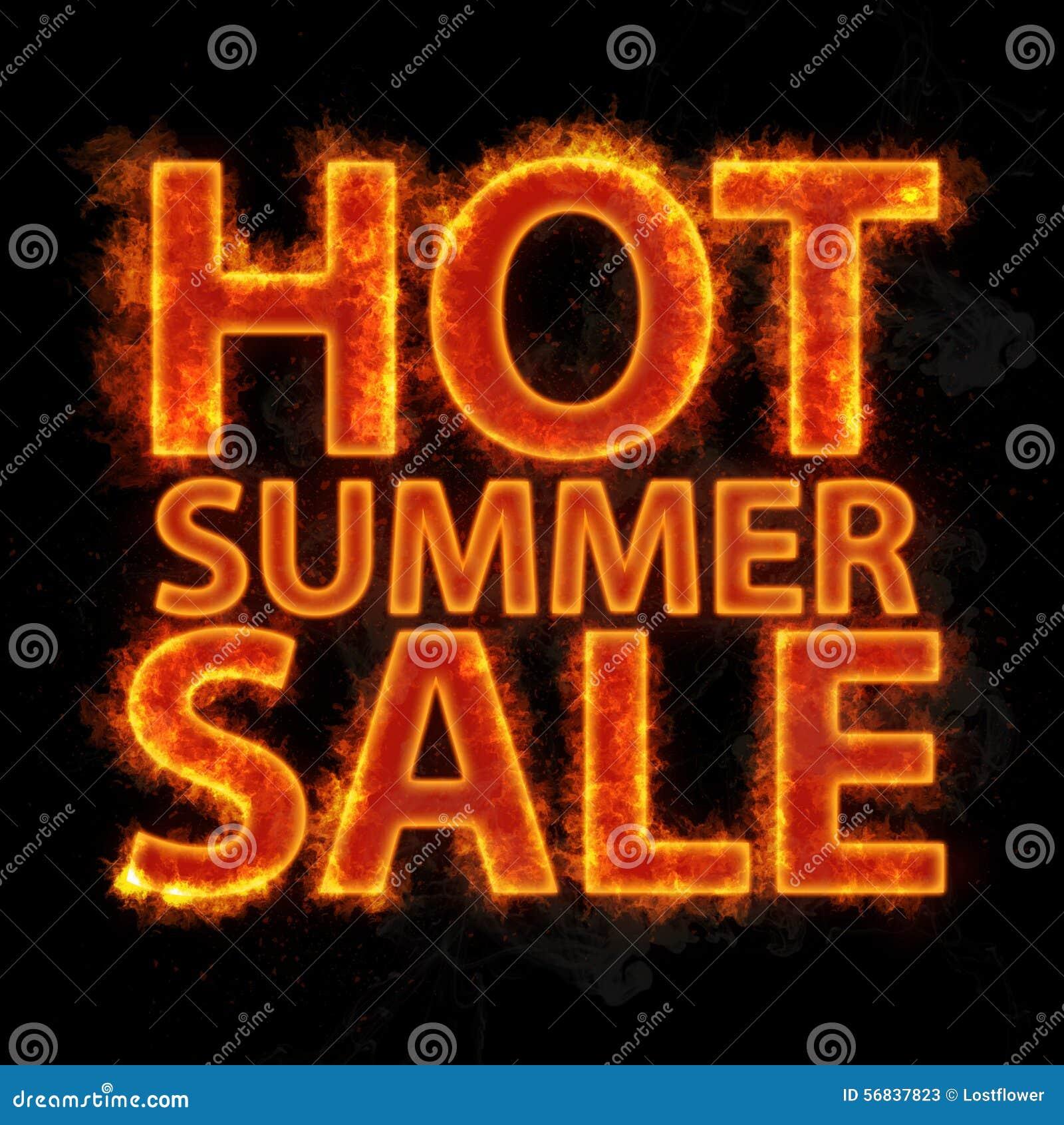 Ognisty gorący lato sprzedaży projekta szablon