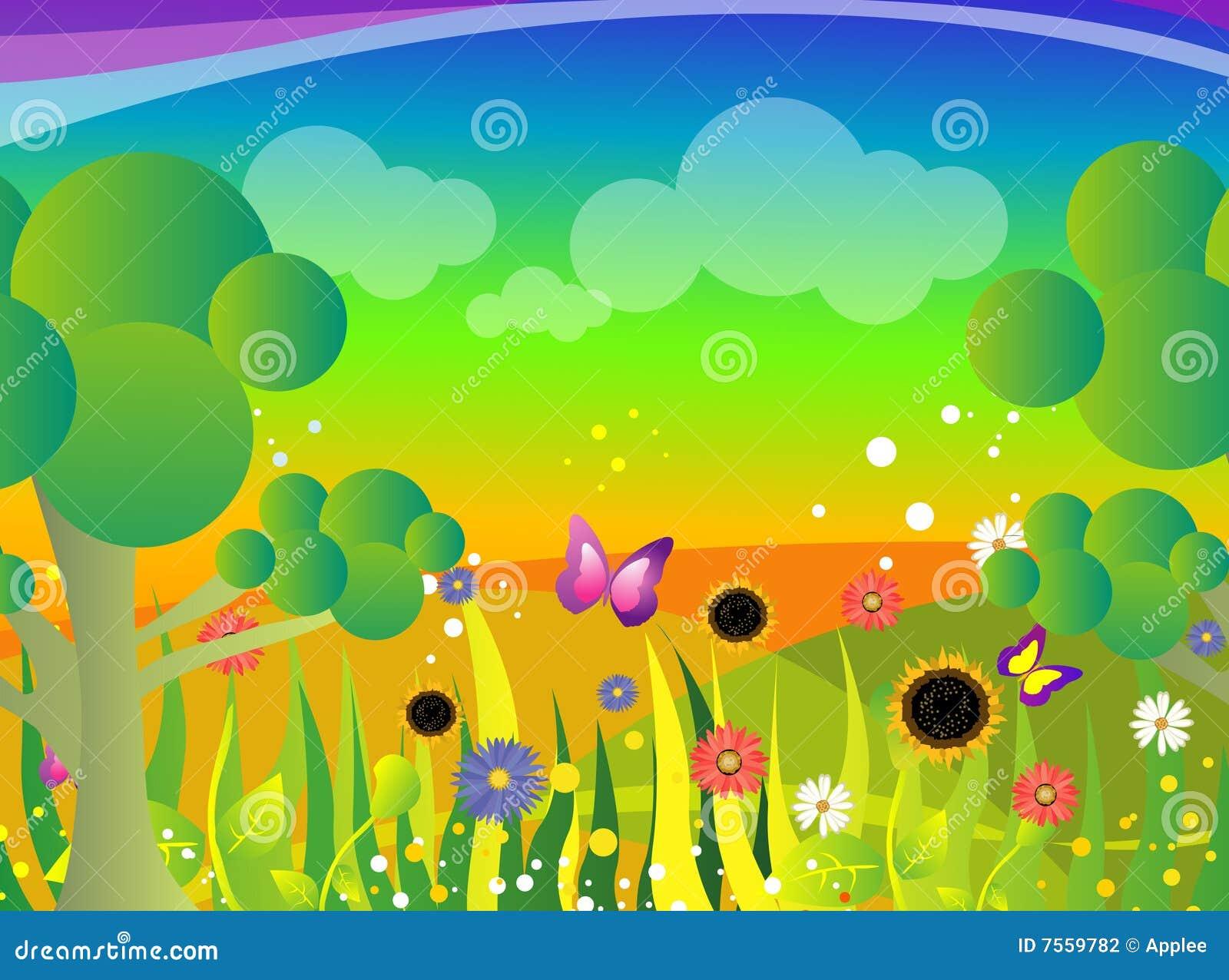 Ogrodowa ilustracja